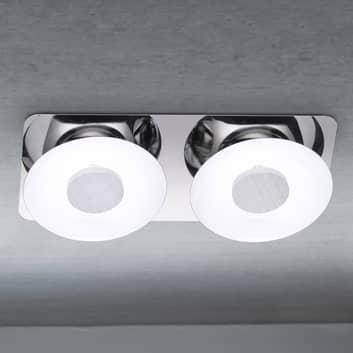 Squisita plafoniera LED Wanja a 2 luci
