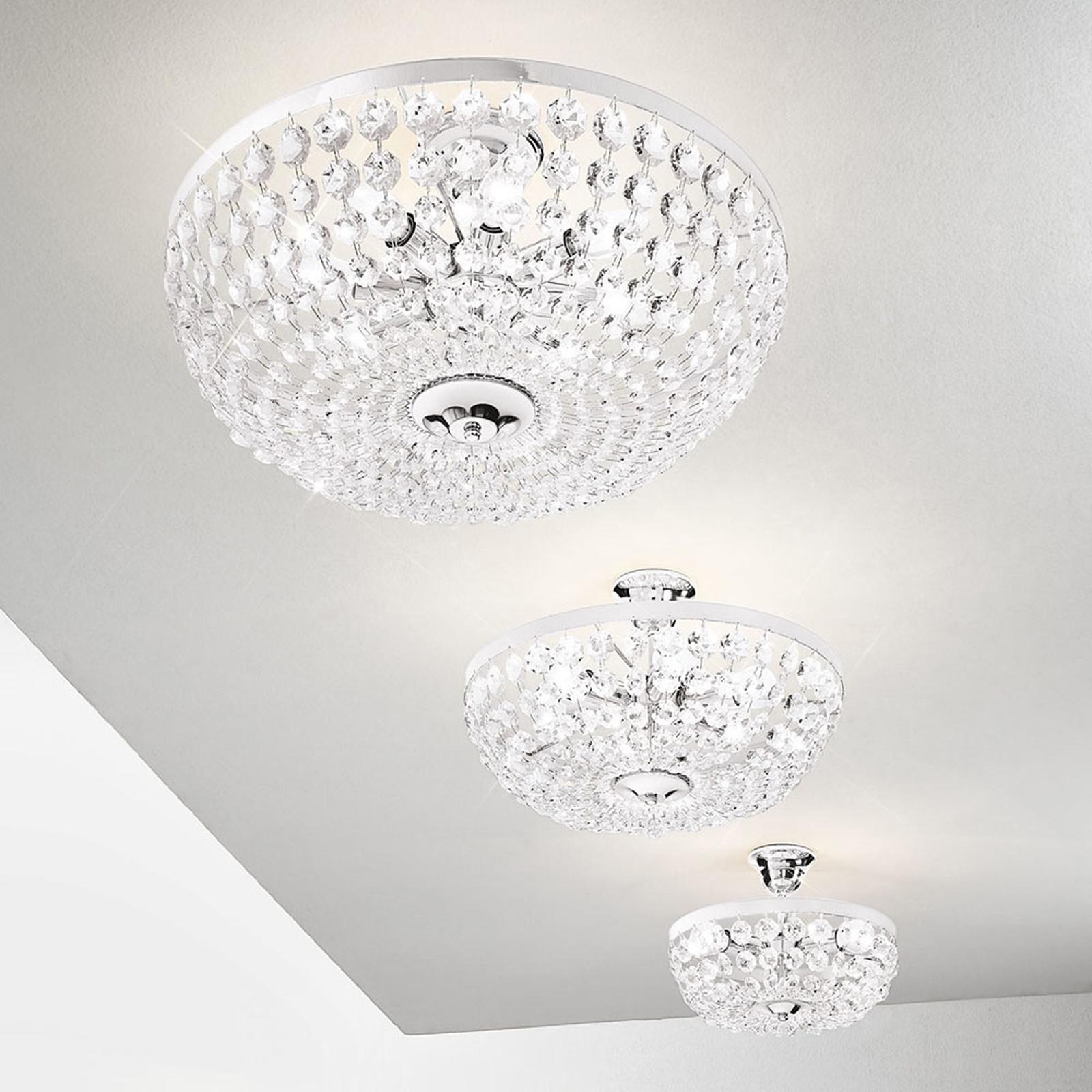 Lampa sufitowa Valerie, chrom, Ø 40 cm