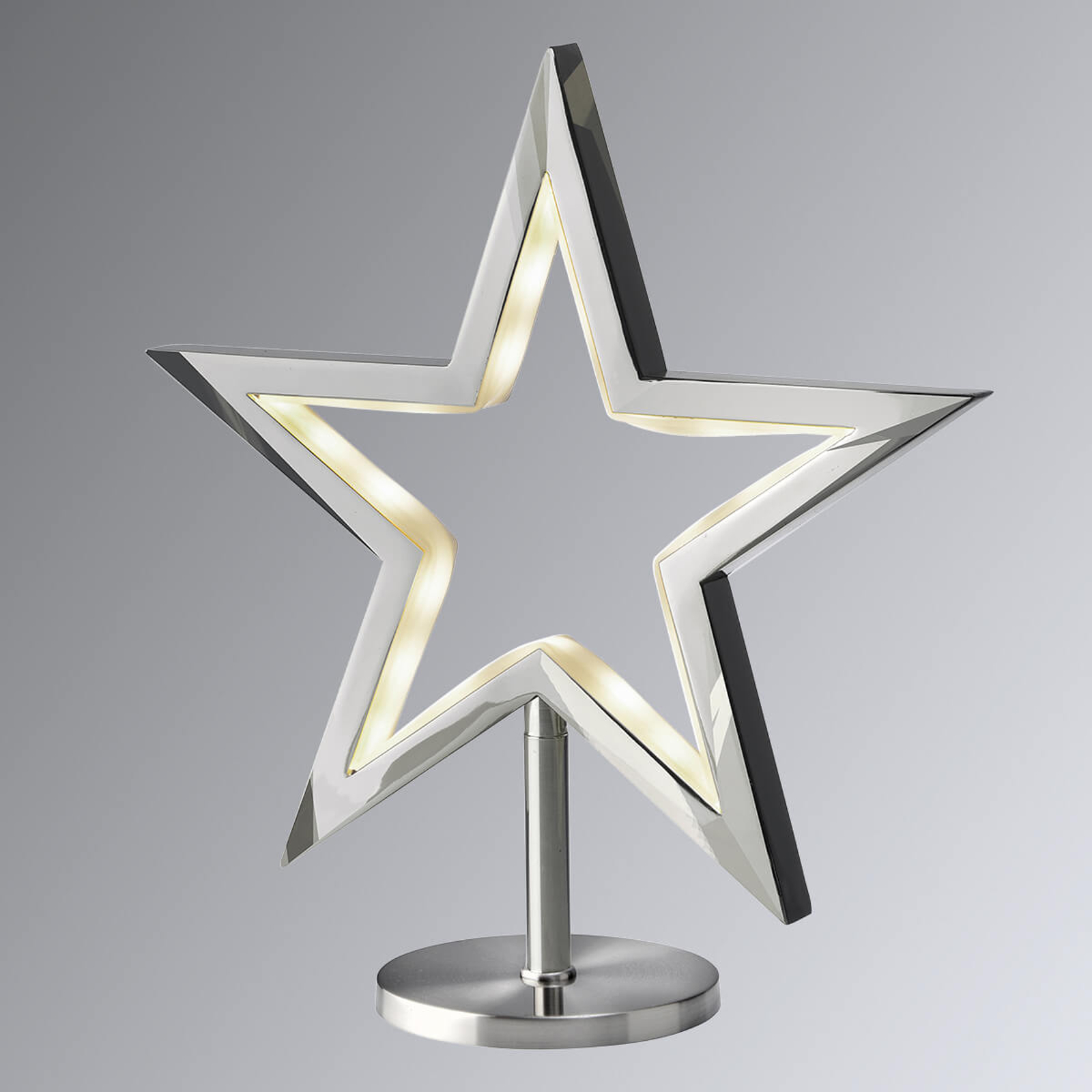 Étoile LED à poser Lucy chromée