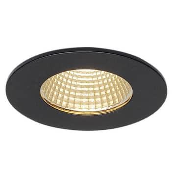 SLV Patta-I LED-downlight rund, matt svart