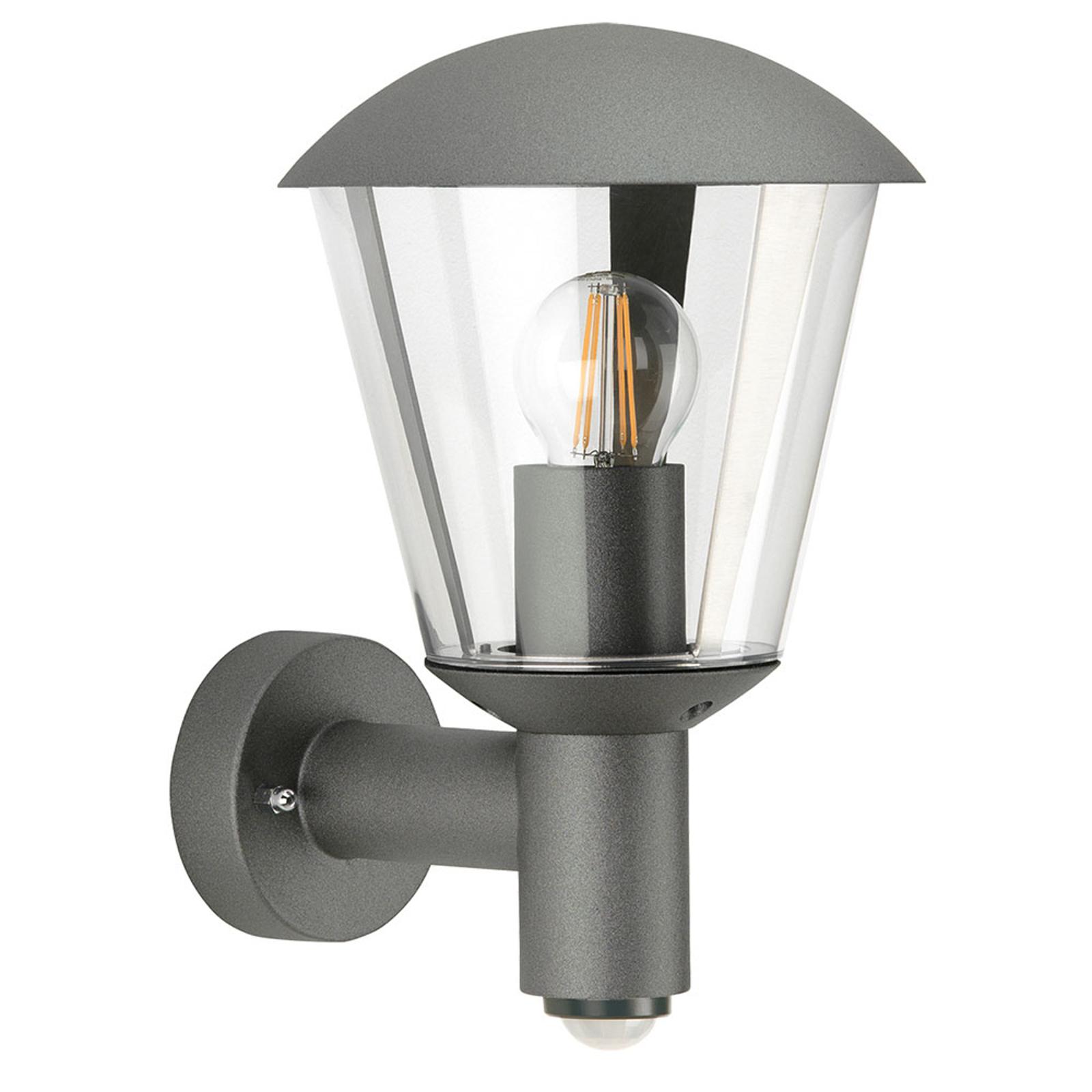Außenwandlampe Jorrit, Bewegungsmelder, anthrazit