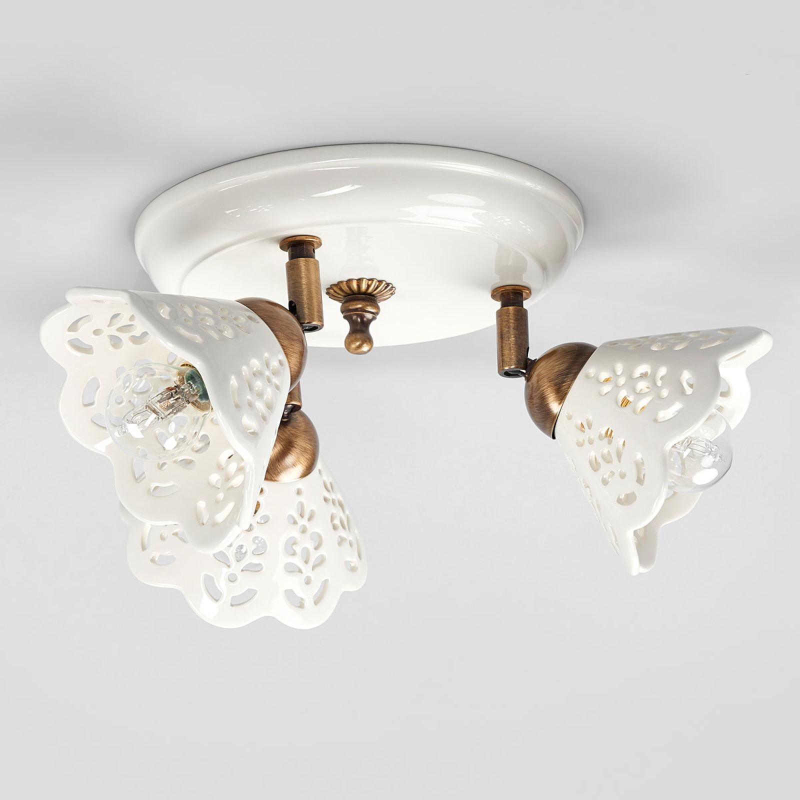 Betoverende plafondlamp PORTICO, 3-lichts