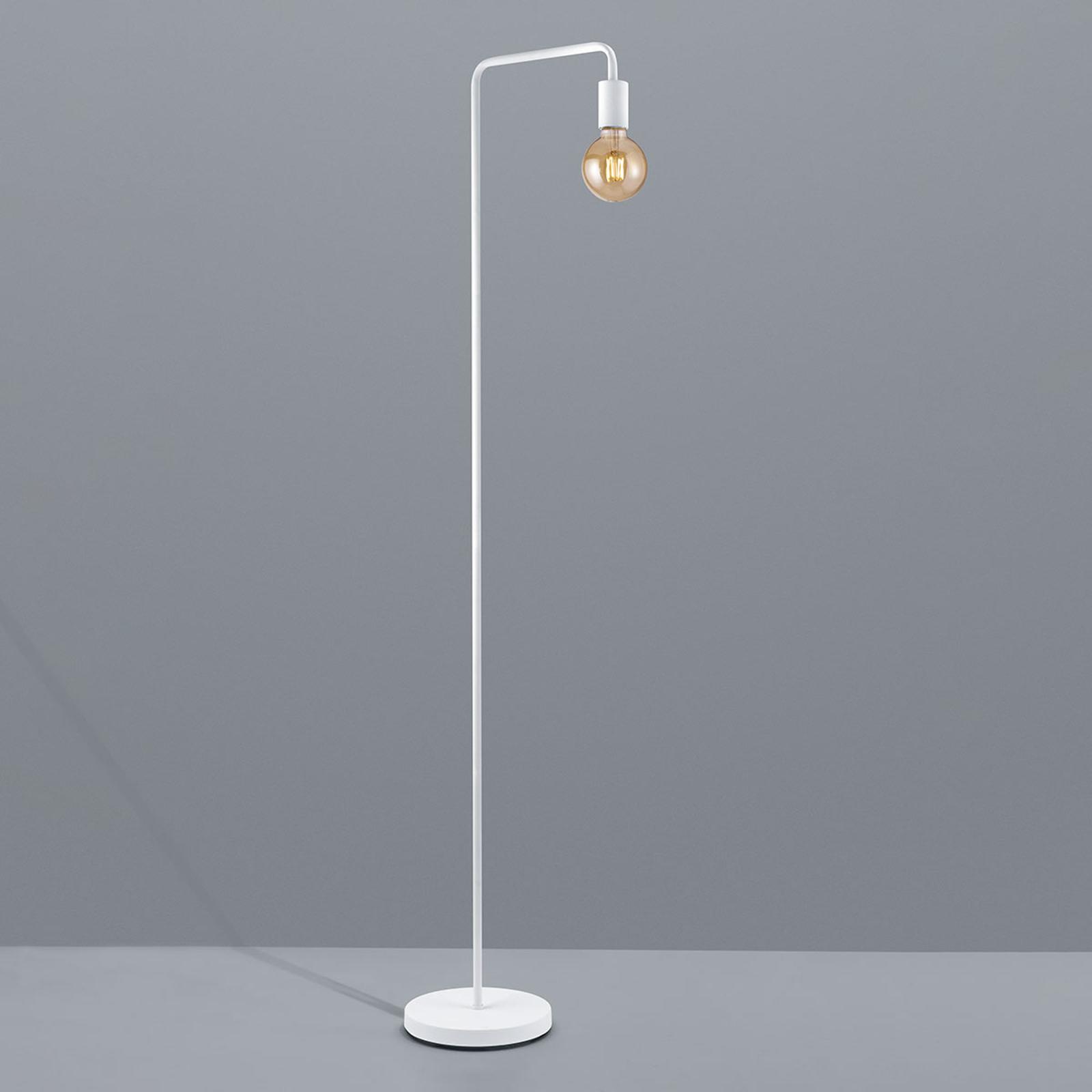 Lampa stojąca Diallo bez klosza, biały matowy