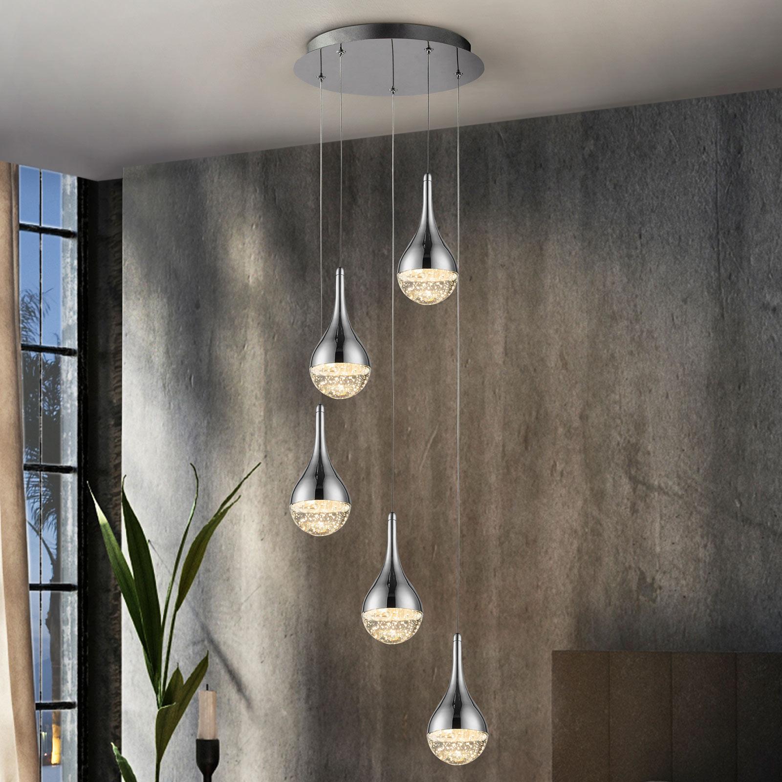 LED hanglamp Elie, 5-lamps