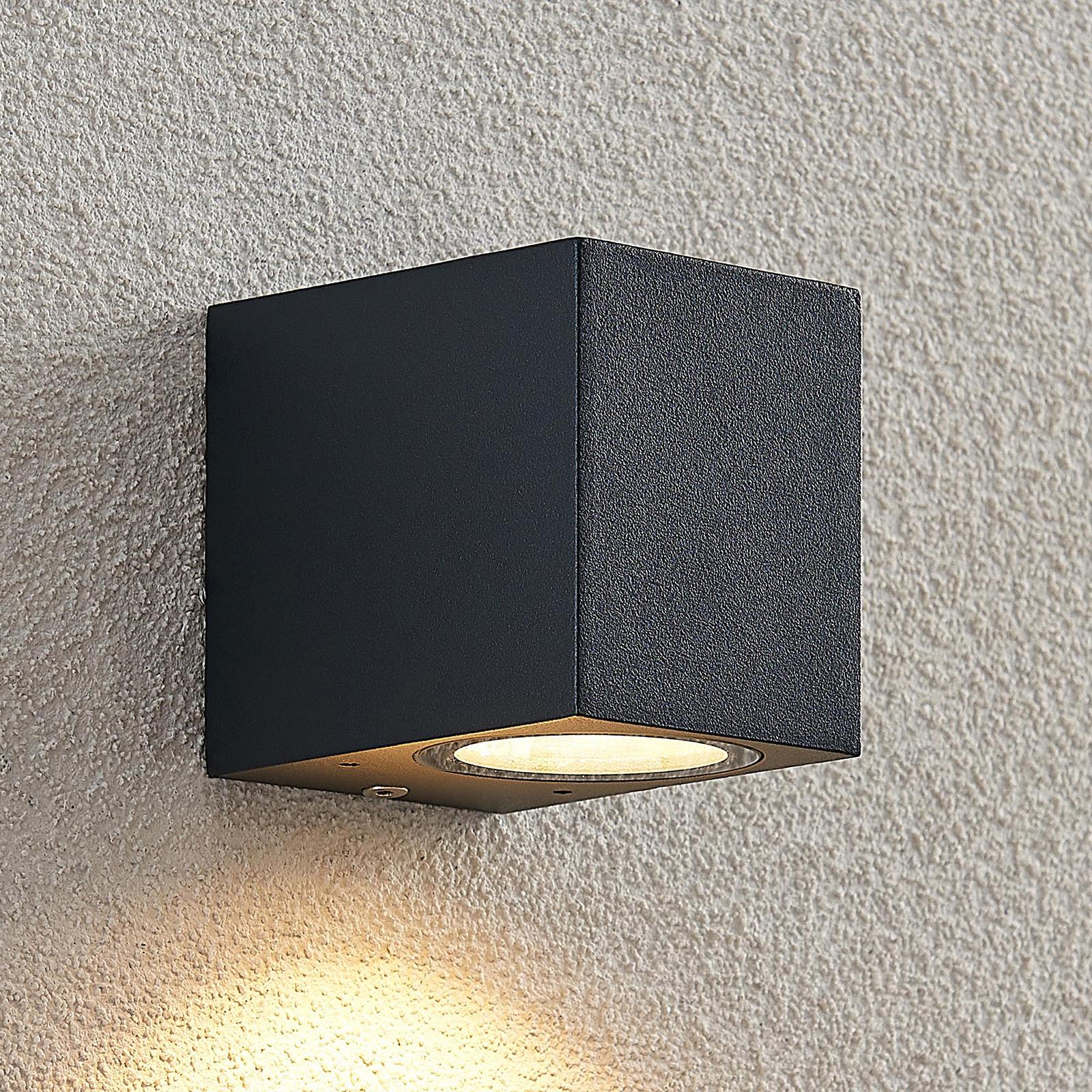 ELC Fijona udendørs LED-væglampe, kantet, 8,1 cm