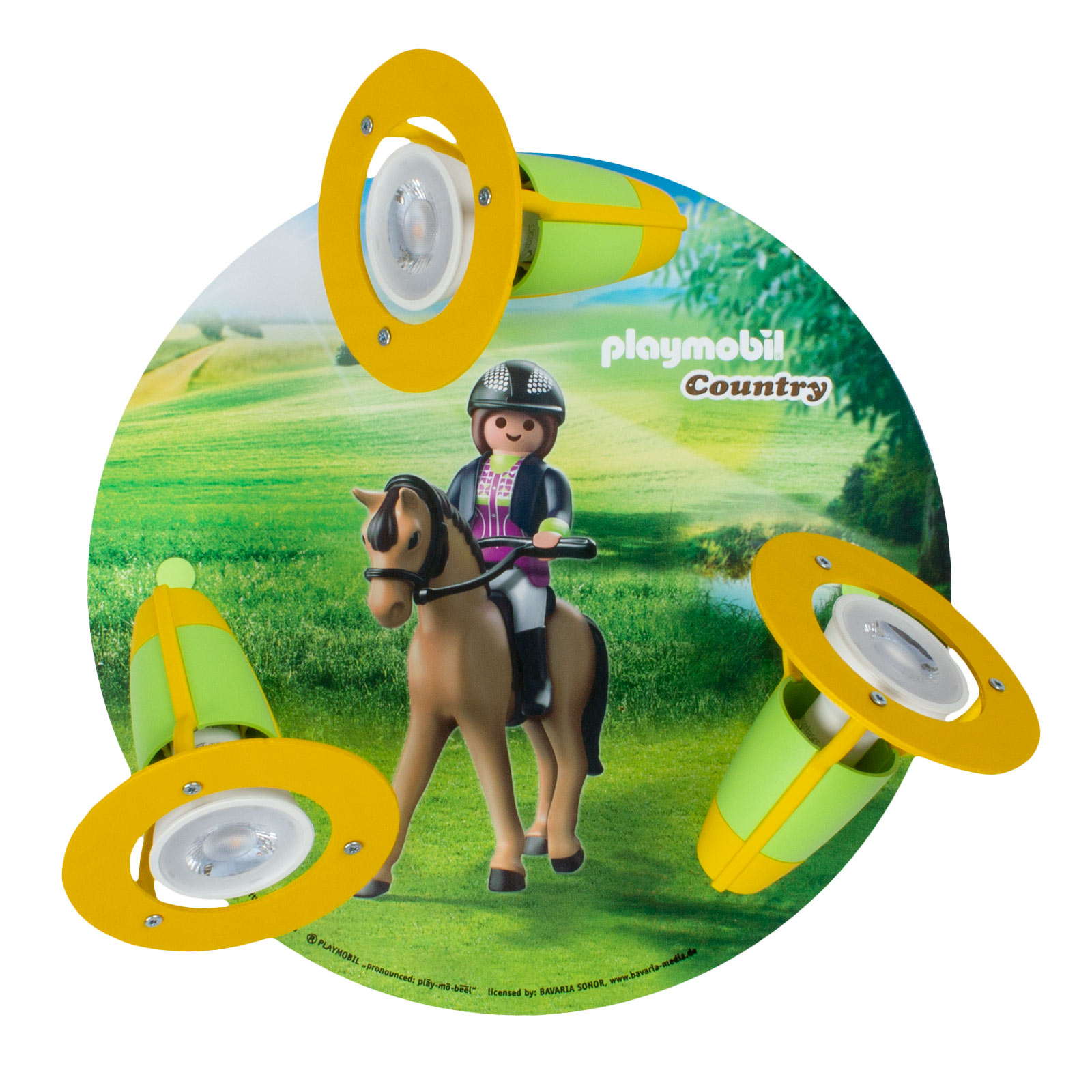 Plafondlamp 3 per spot PLAYMOBIL Country
