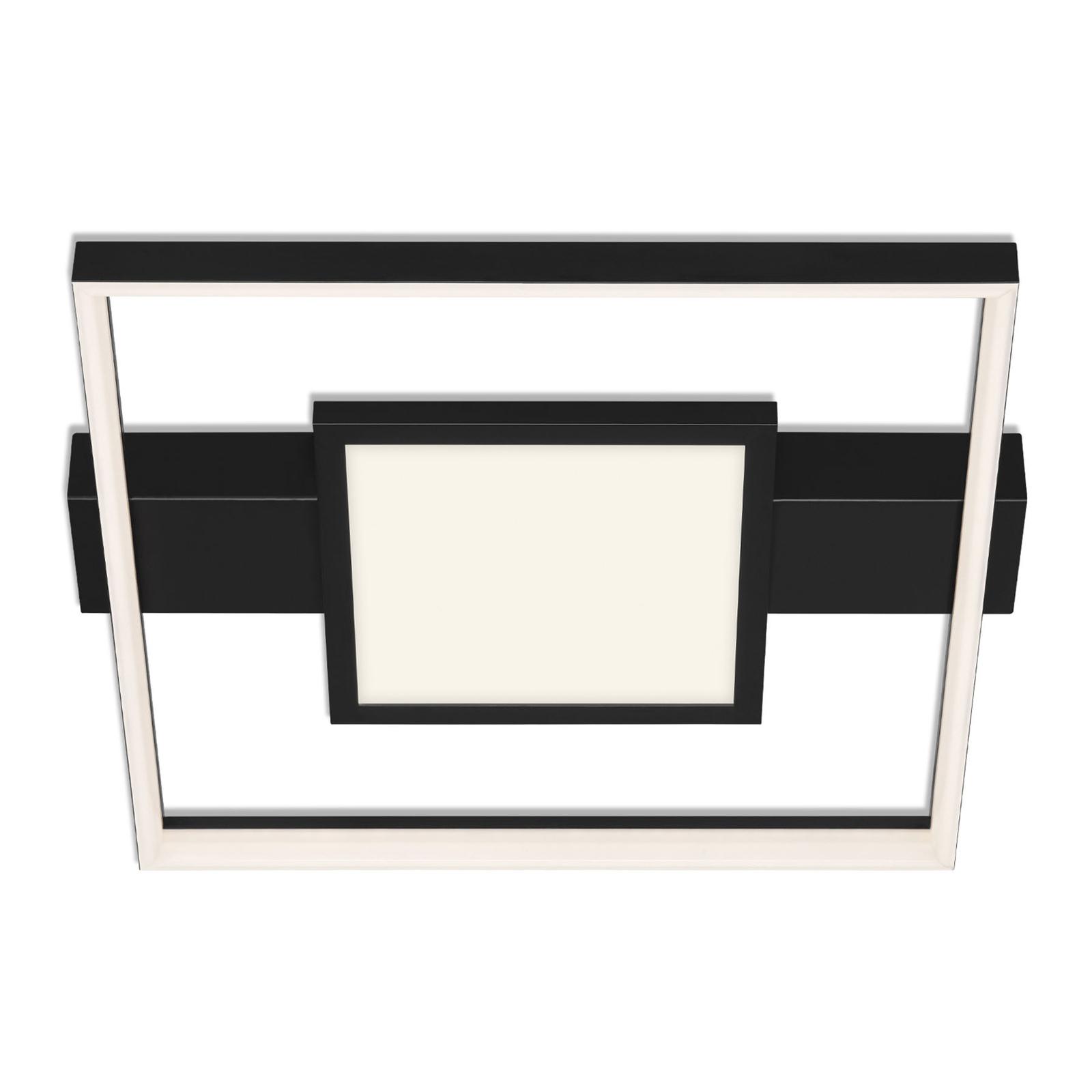 LED-loftlampe 3028, rektangulær, sort, 2 lyskilder