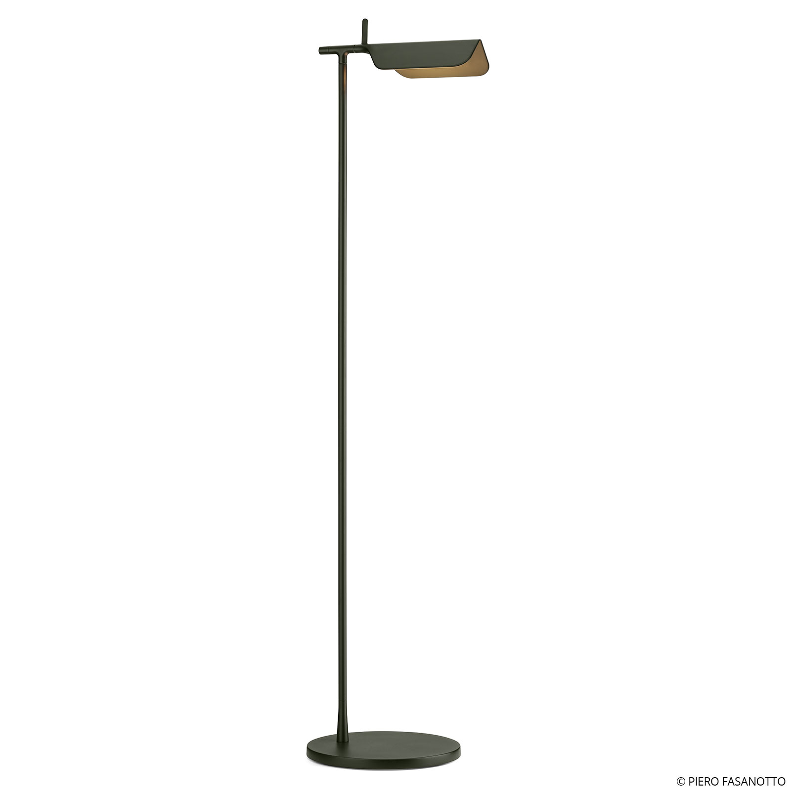 FLOS Tab F -LED-lattiavalo, tummanvihreä, matta