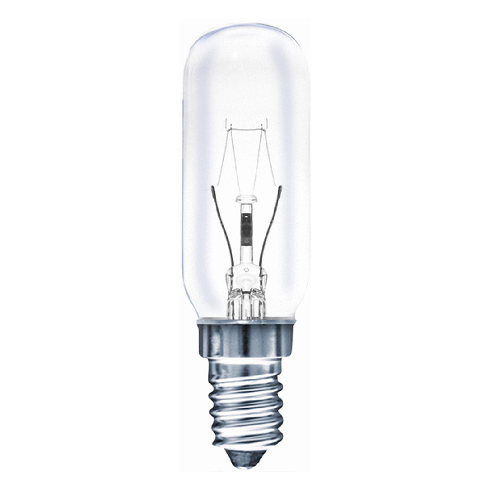 E14 40W Röhrenlampe klar, warmweiß