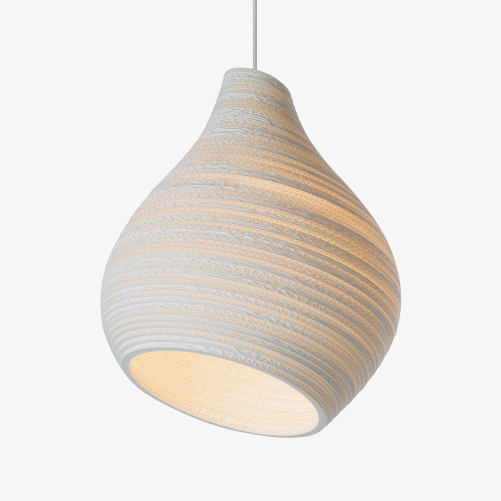 Lampa wisząca Hive biała Ø 38 cm