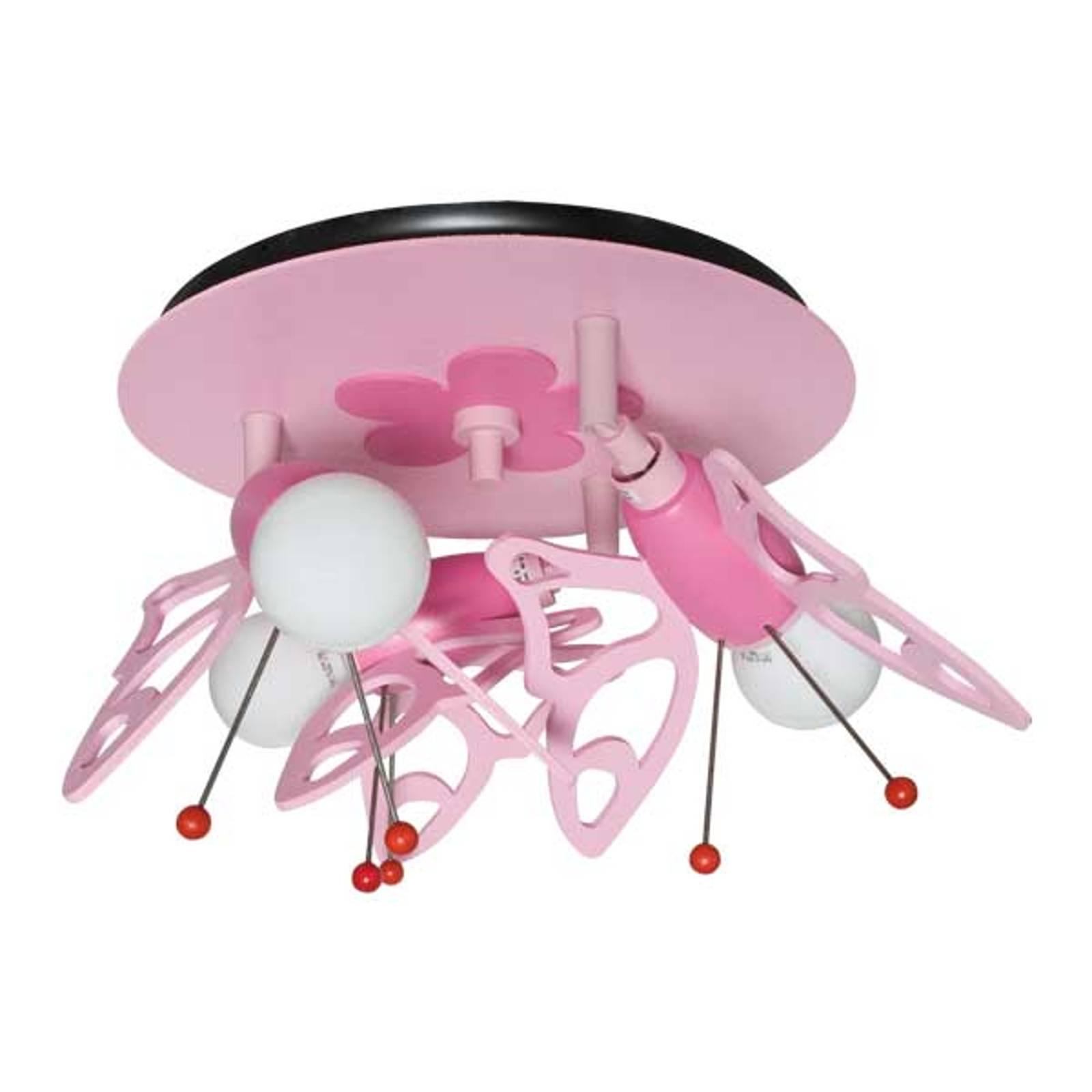 Plafondlamp Vlinder voor kinderkamer, 3-lamps
