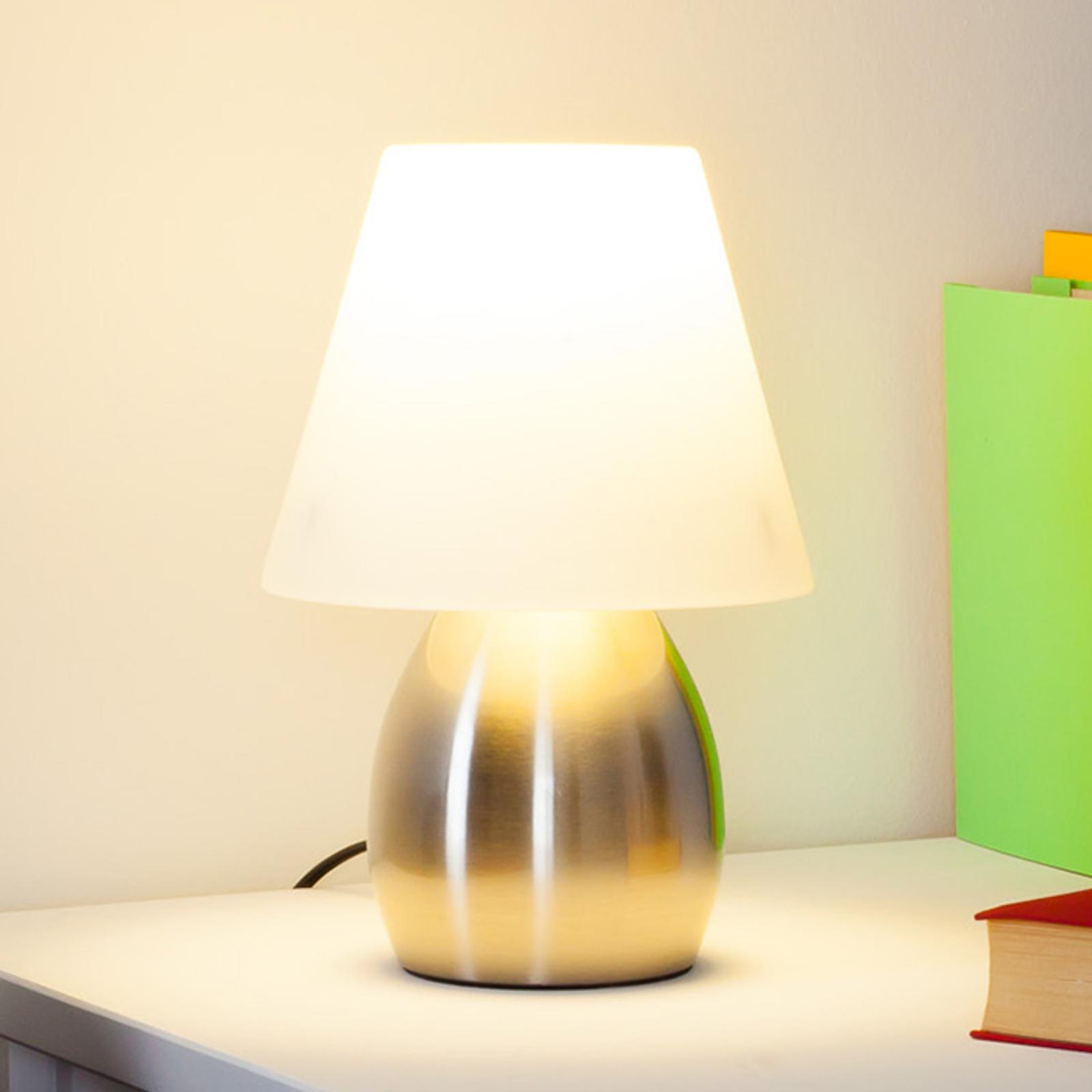 Den dekorative bordlampe Emilan med E14-LED-pærer