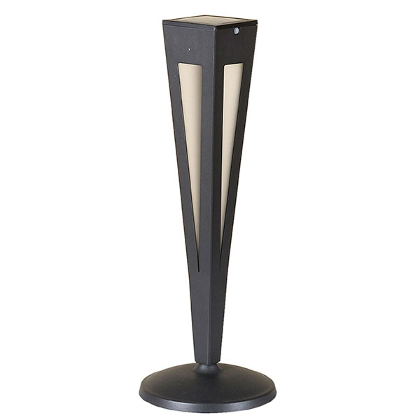 Fiaccola LED solare Tinka a sensore, 62 cm grigio