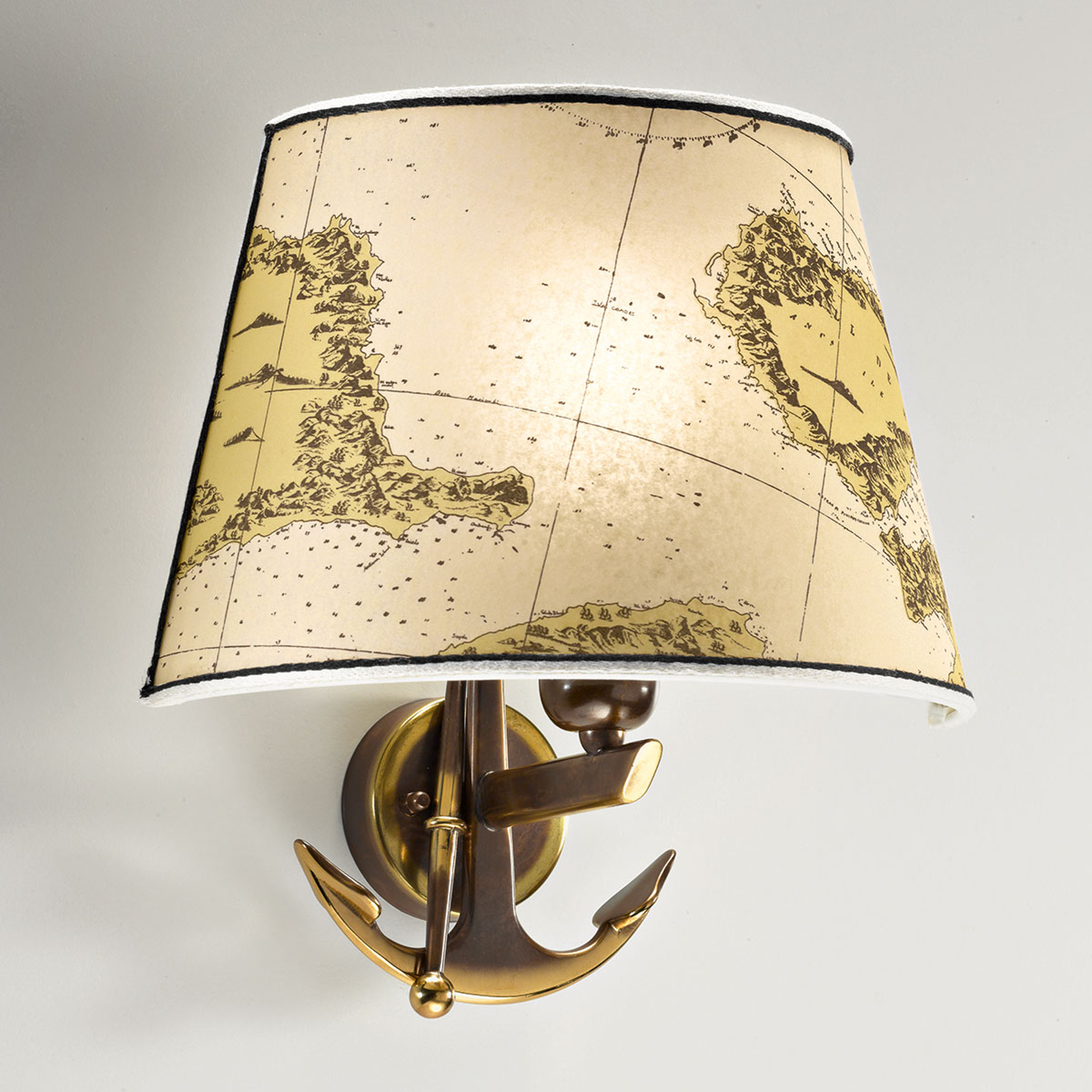 Aplique Nautica 1 luz 31 cm con ancla