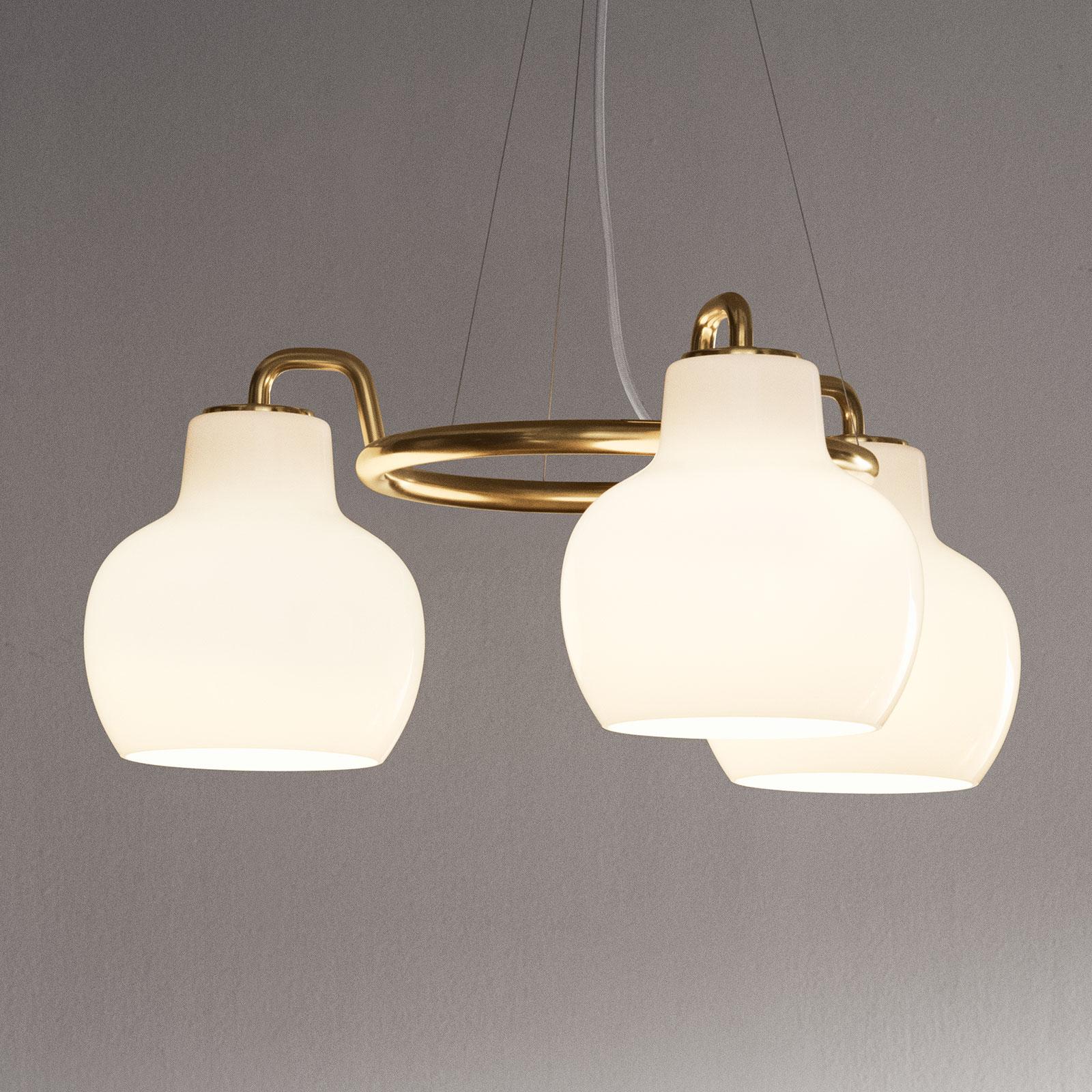 Louis Poulsen VL Ring Crown hængelampe 3 lyskilder