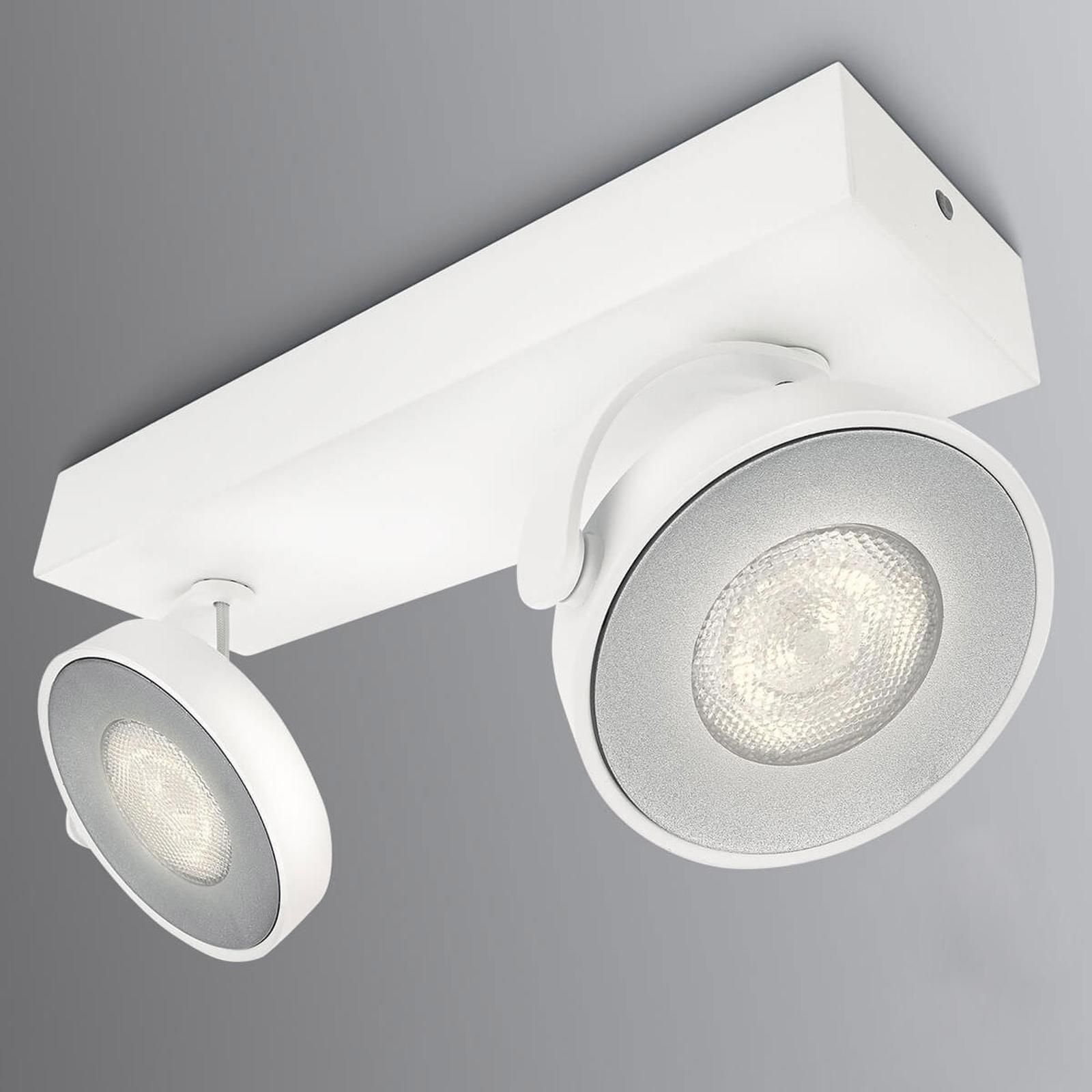 met 2 lampen LED spot Clockwork m. warmglow effect