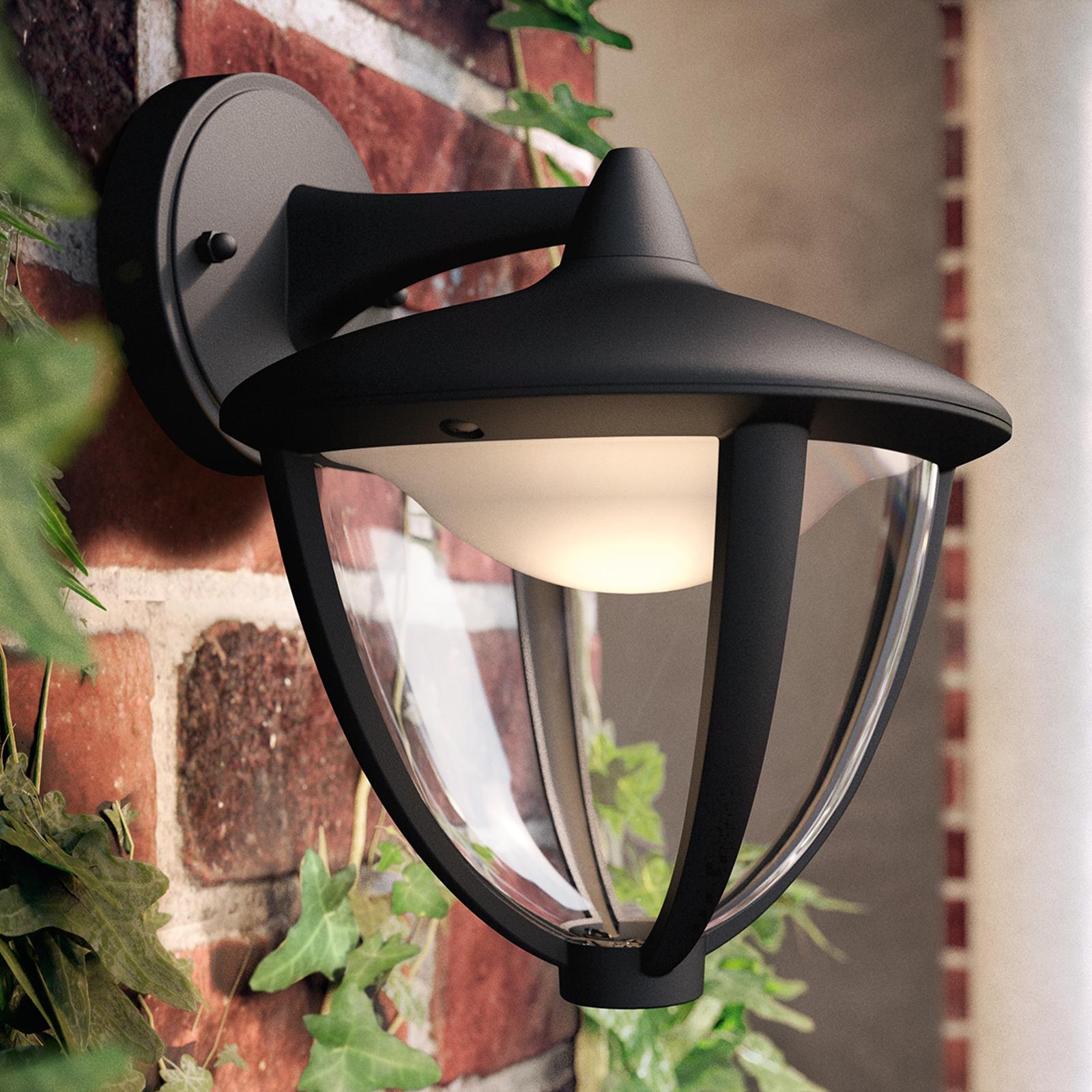 Philips Robin LED buitenwandlamp zwart, onderkant