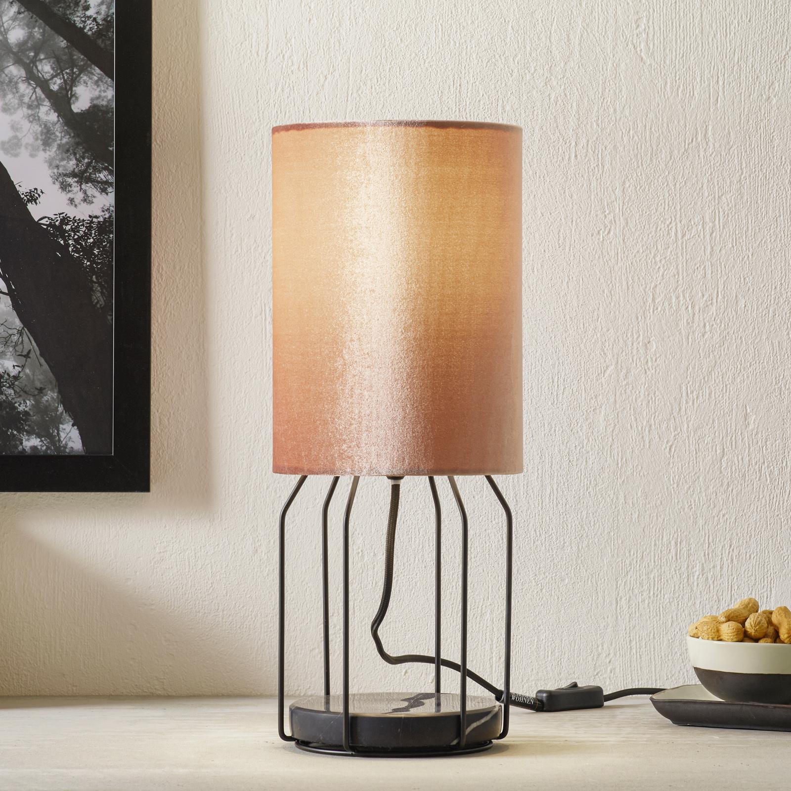 Schöner Wohnen Grace lampe à poser rosée
