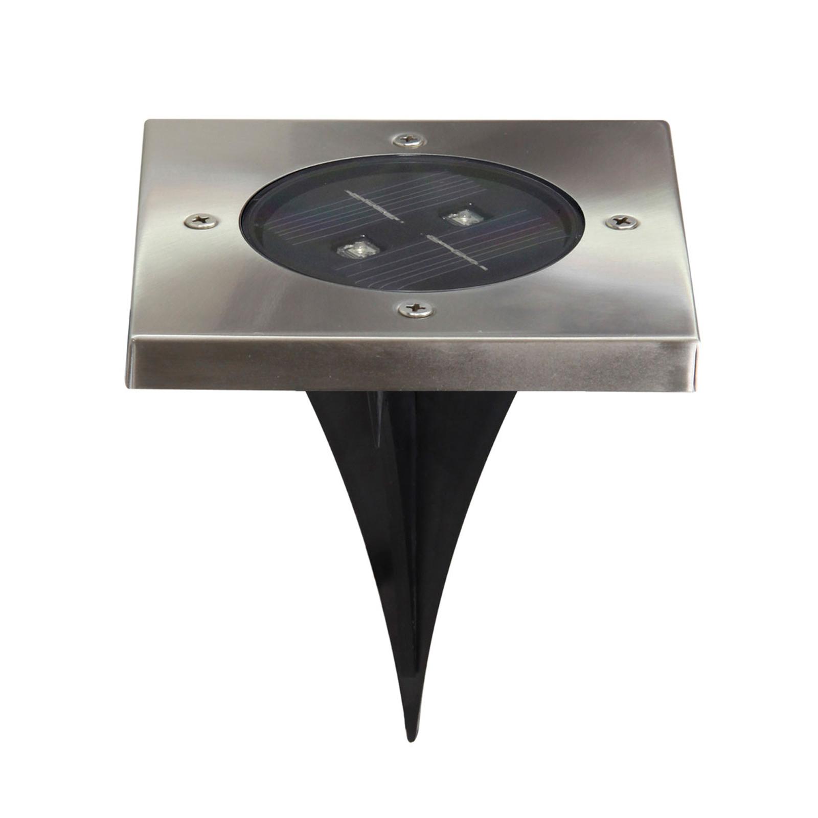 Torino - hoekige solar-LED grondspot inbouwlamp