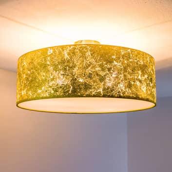 Loftslampen Aura er belagt med slagmetal
