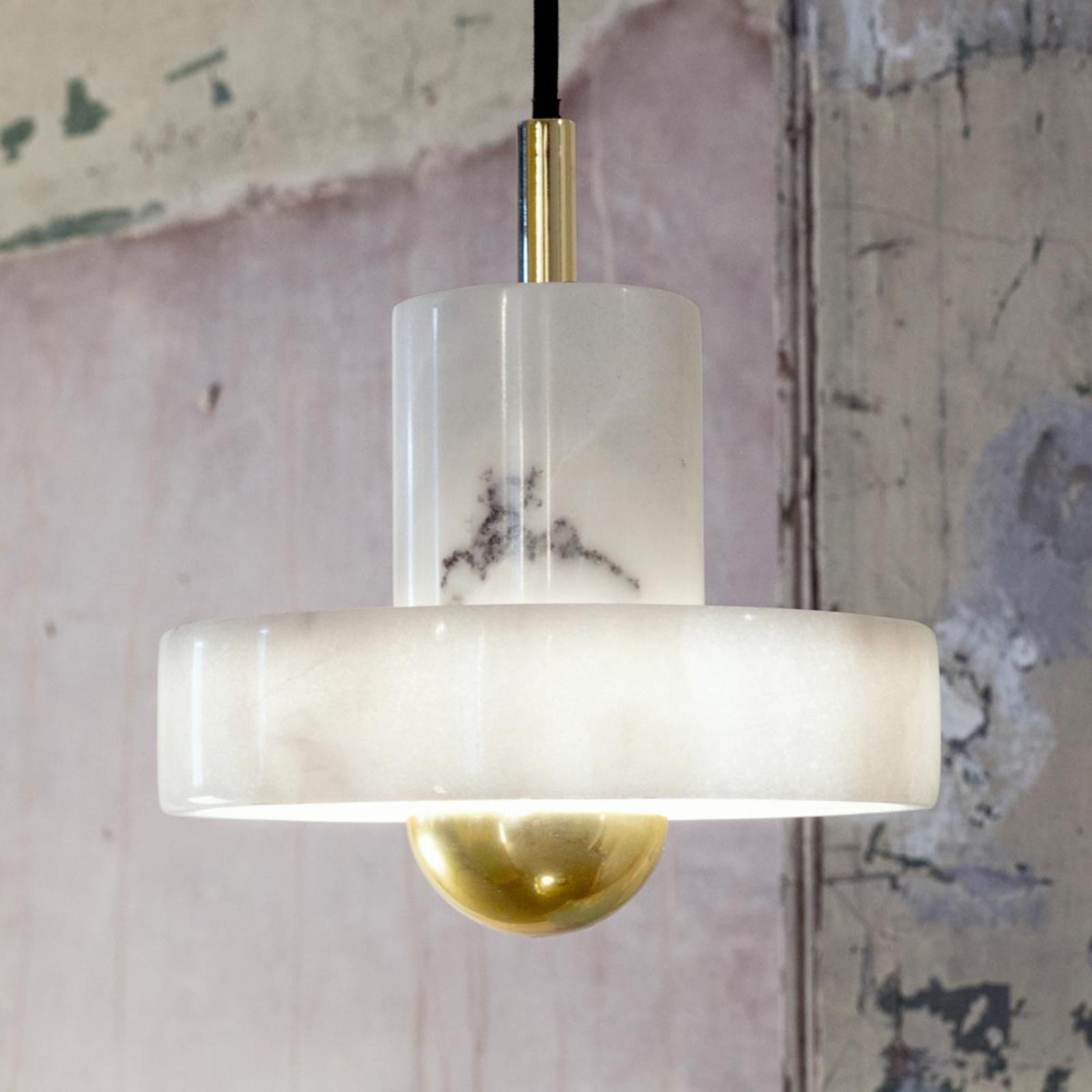 Tom Dixon Stone - hanglamp met marmer kap