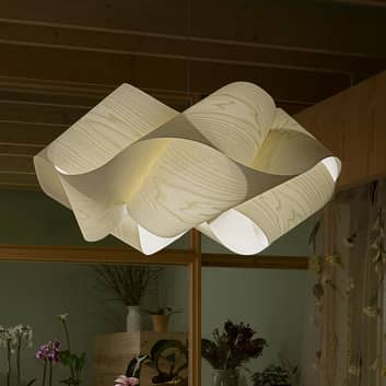 LZF Swirl hængelampe, Ø 54 cm, af træfiner