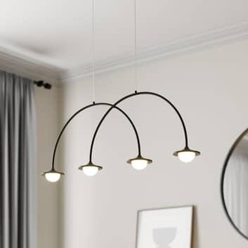 Lucande Avidos sospensione LED, nero, dimmerabile