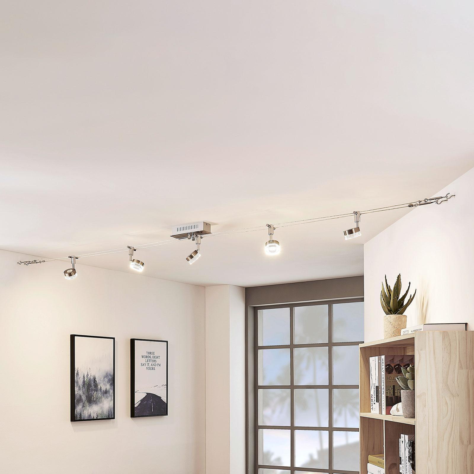 LED-Seilsystem Valeska, 5-flammig