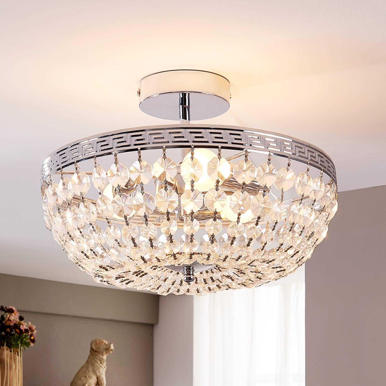 Mieniąca się kryształowa lampa sufitowa Mondrian
