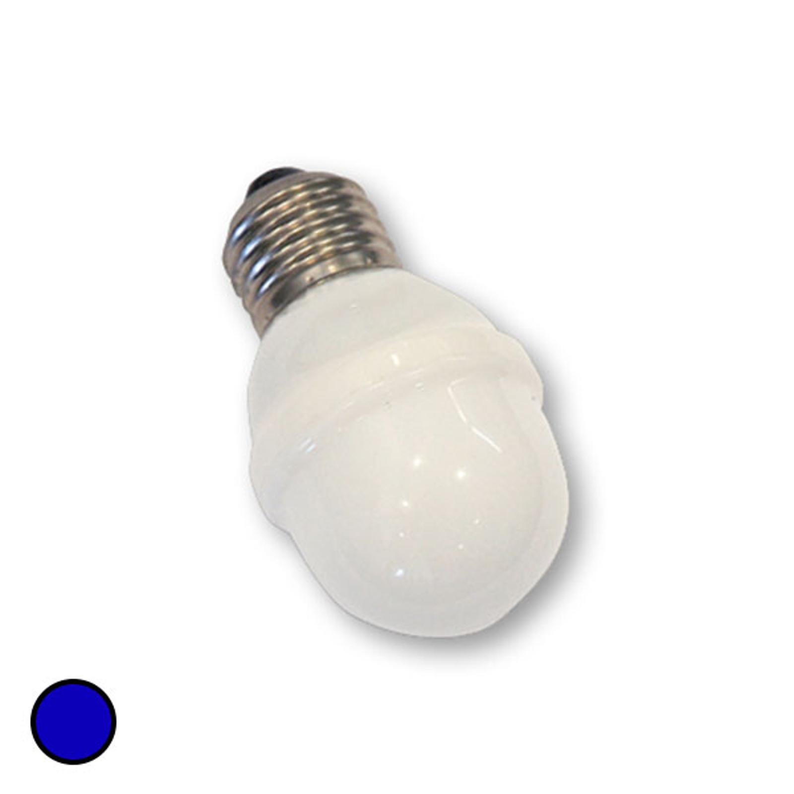 E27 Golfball-Lampe 1W 5,5 VA blau