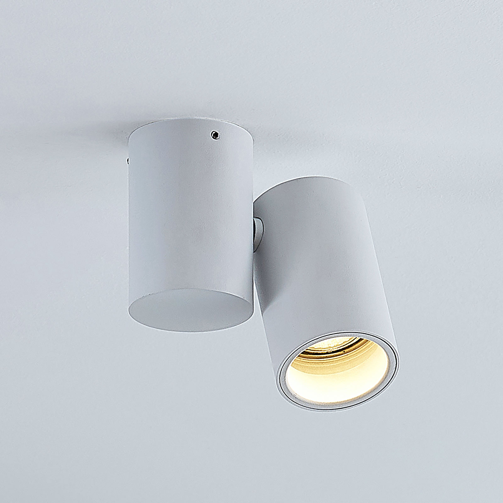 Taklampa Gesina, 1 lampa, vit