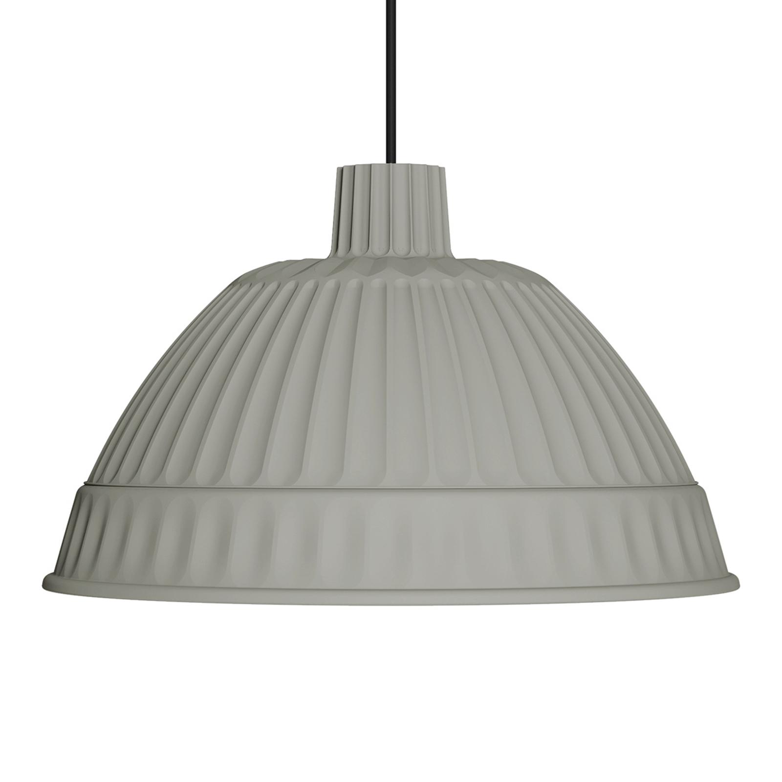 Jasnoszara designerska lampa wisząca Cloche