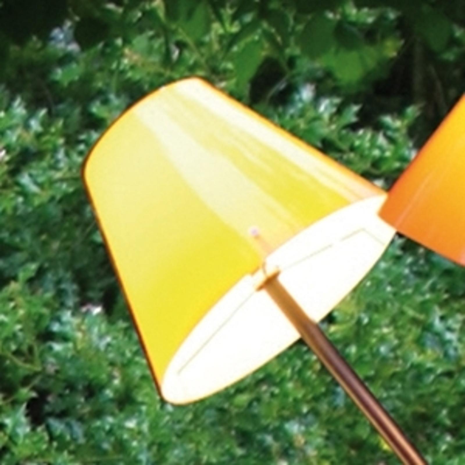 Gelber Schirm zur Außenleuchte OCTOPUS OUTDOOR