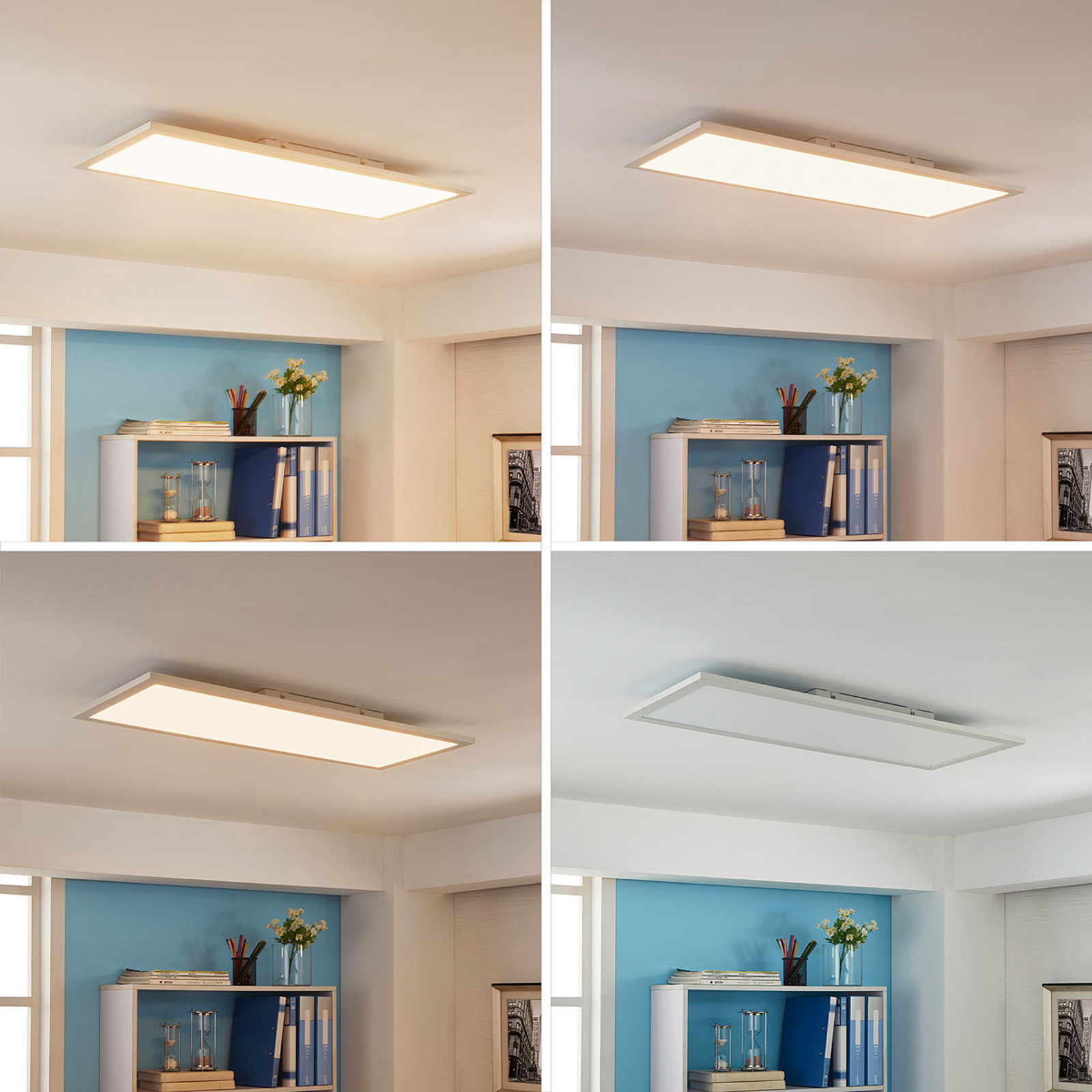 Längliches LED-Panel Enja, 30 x 80 cm