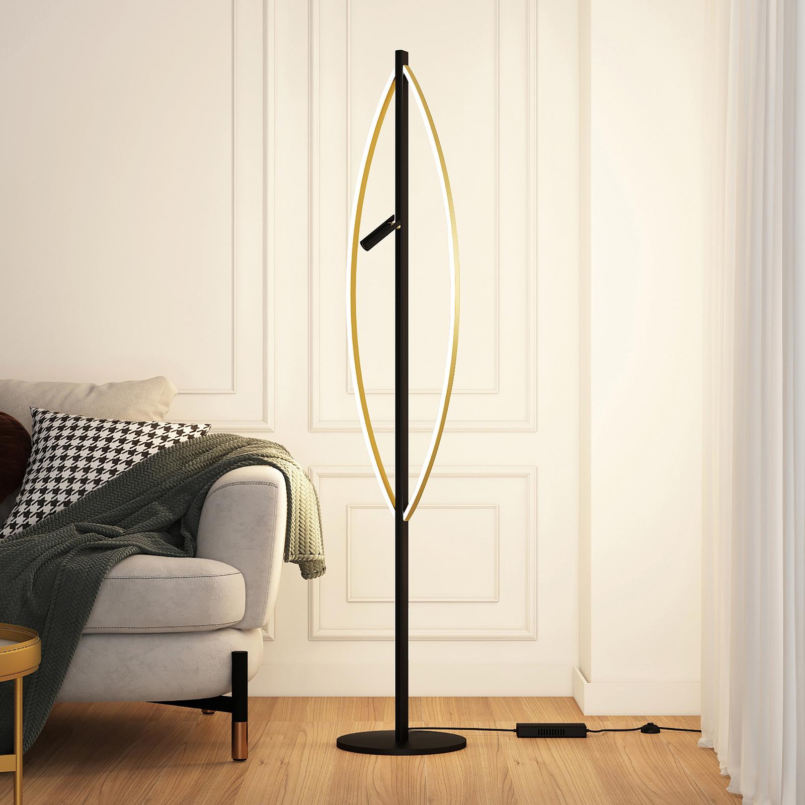 Lucande Matwei -LED-lattiavalo, ovaali, messinki