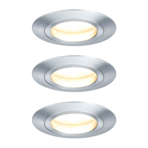 Paulmann 3-pack LED-spotlight Coin, 7 W dimbar alu