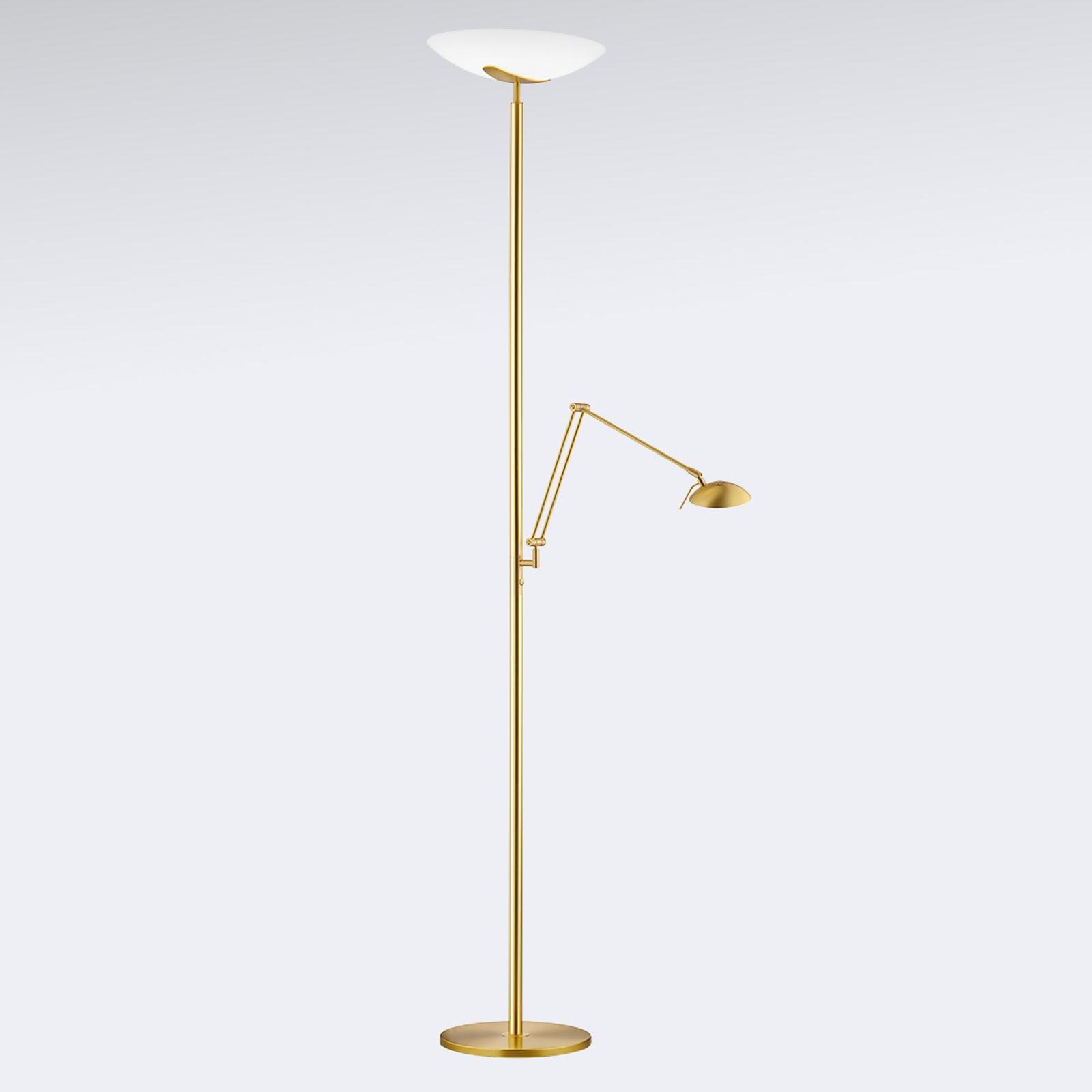 Lampe éclairage ind. LED Lya, liseuse, laiton mat