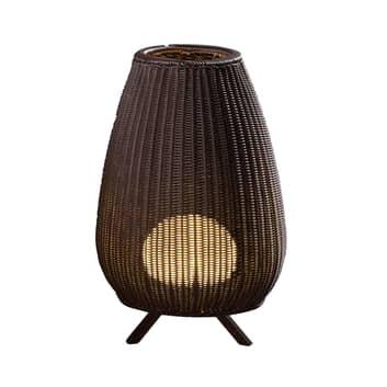 Bover Amphora LED-terassivalaisin, rottinki ruskea