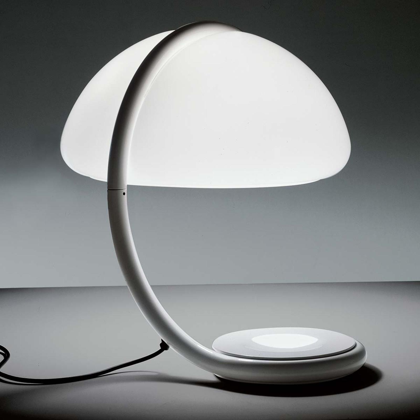 Martinelli Luce Serpente - Tischleuchte, weiß