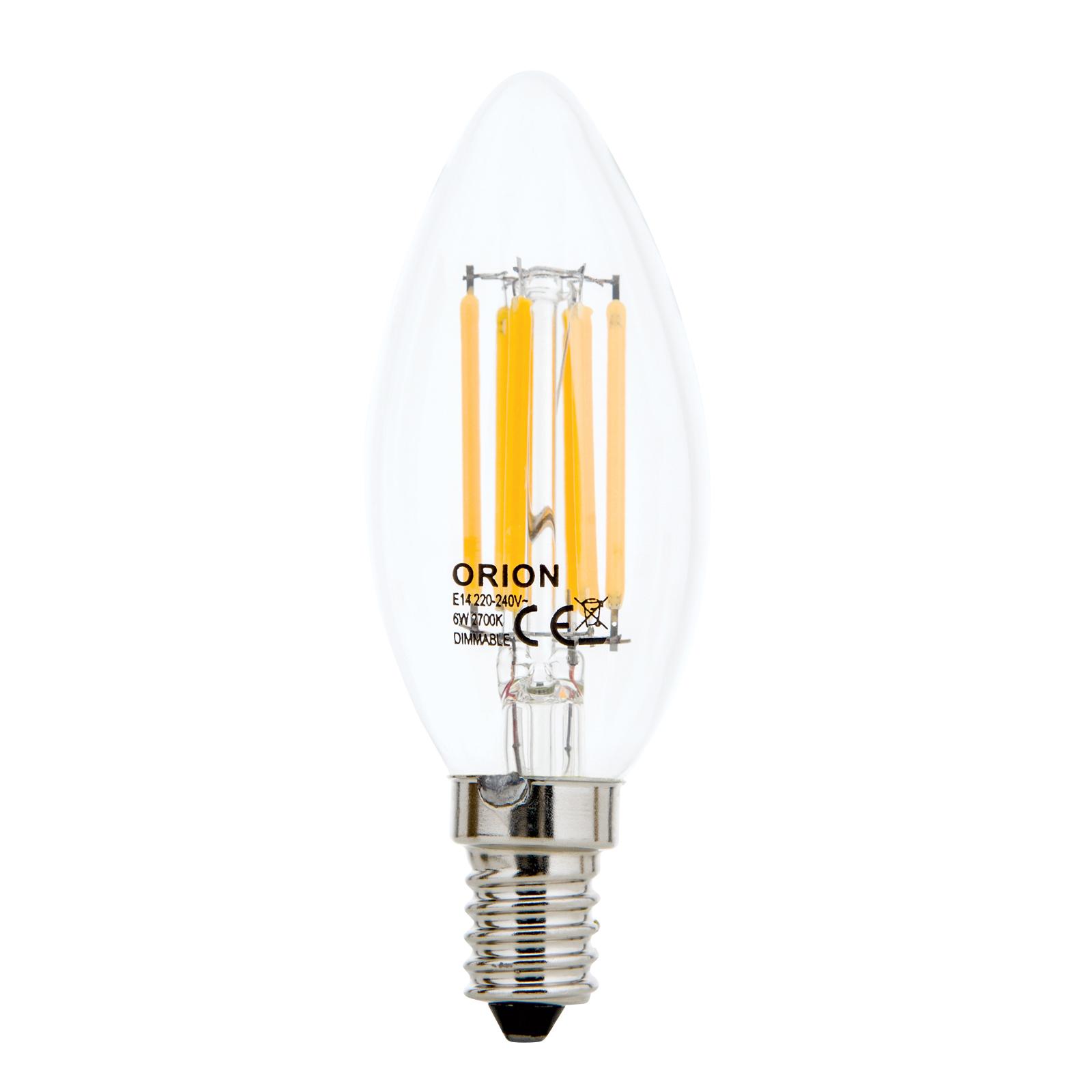 LED-mignonpære E14 4W Filament klar 827 dimbar