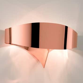 Miedziana designerska lampa ścienna Scudo