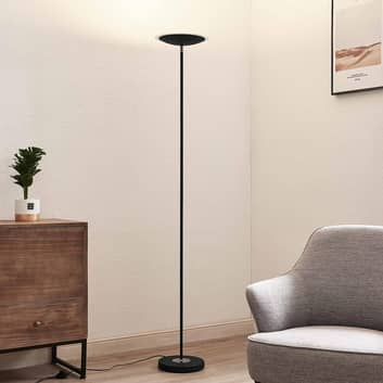 Lindby Heliani LED-gulvlampe, 1 lyskilde, sort