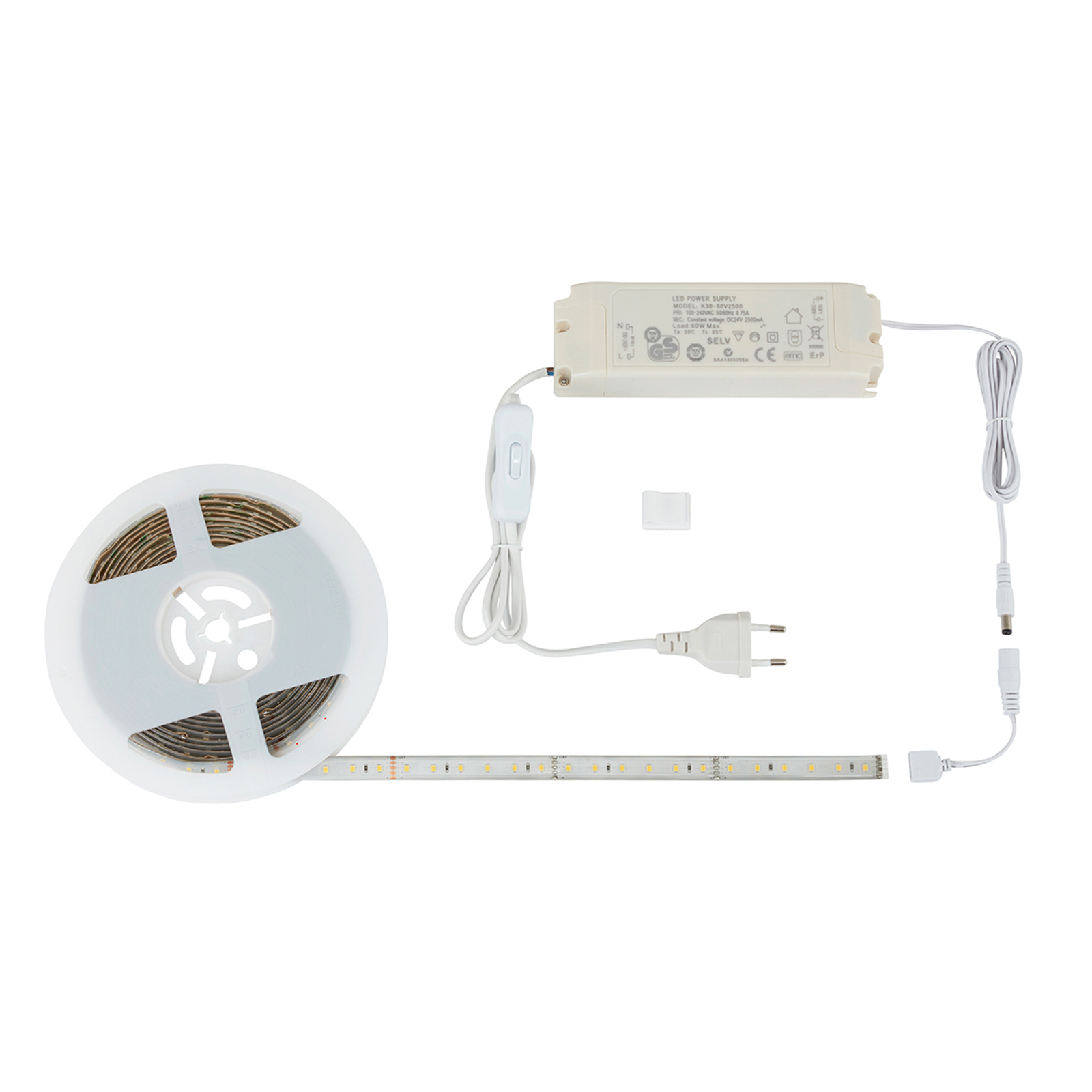 Effektfull LED-list Flex med strömbrytare