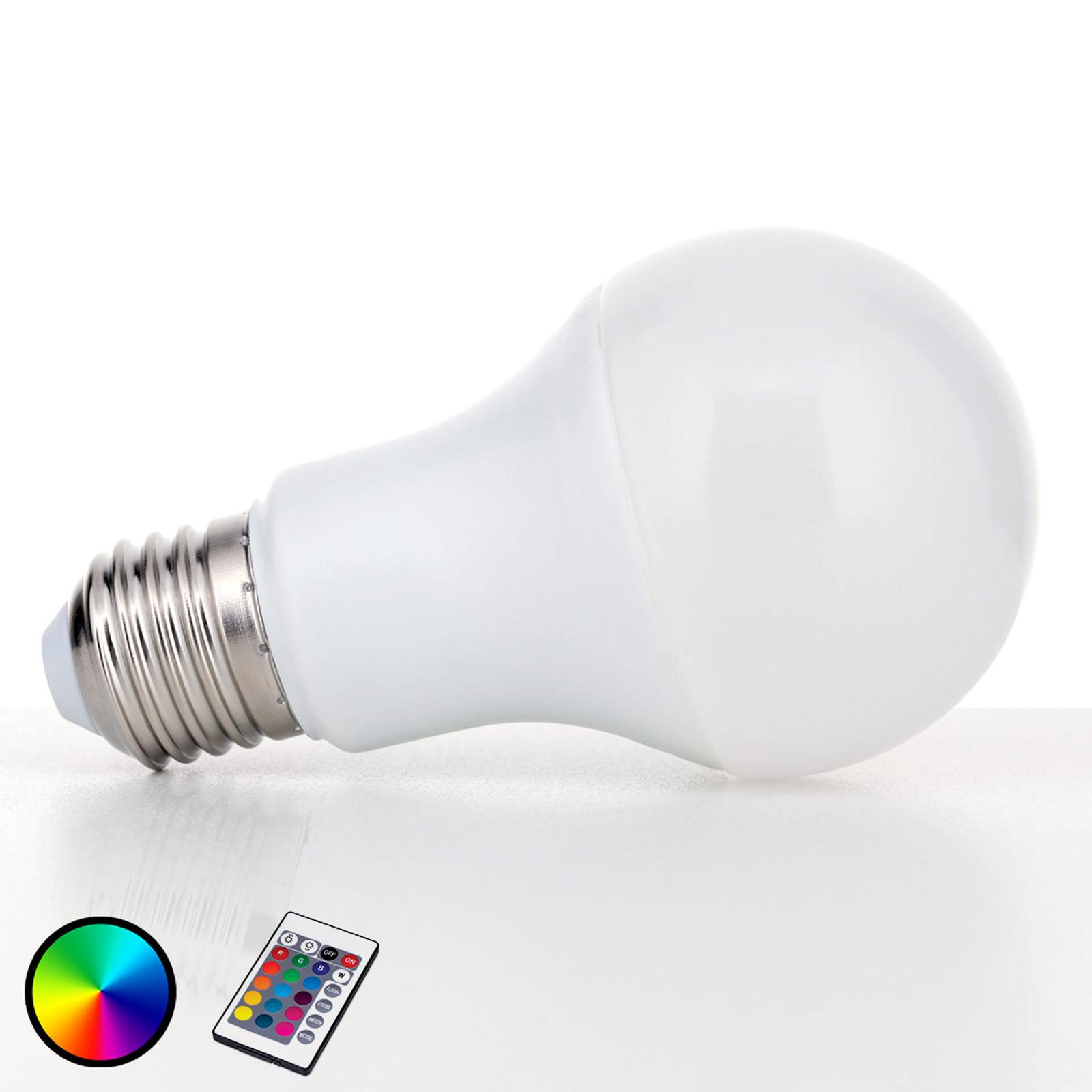 Lampadina LED E27 9W RGBW con telecomando