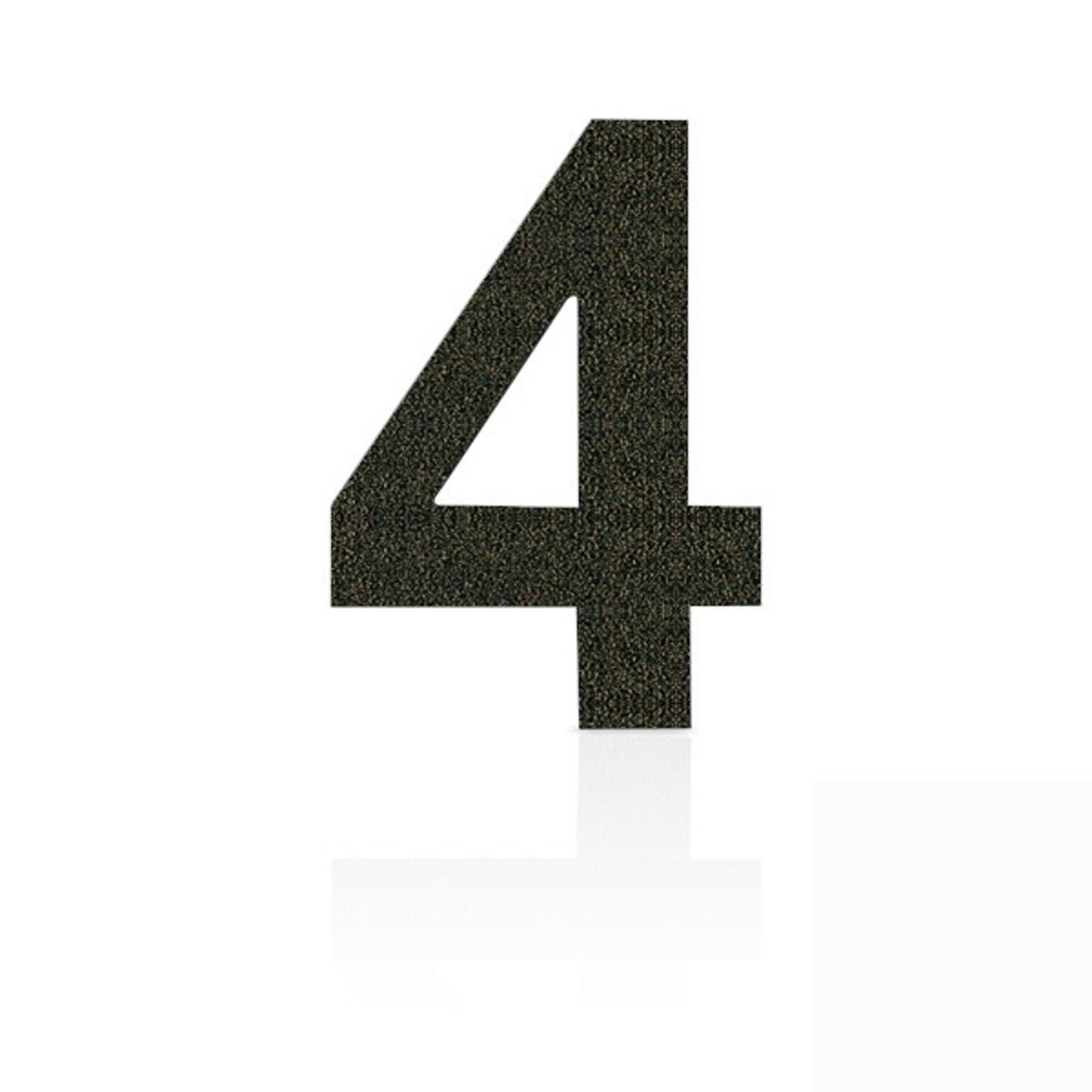 Produktové foto Heibi Nerezová domovní čísla číslice 4, hnědá mocca