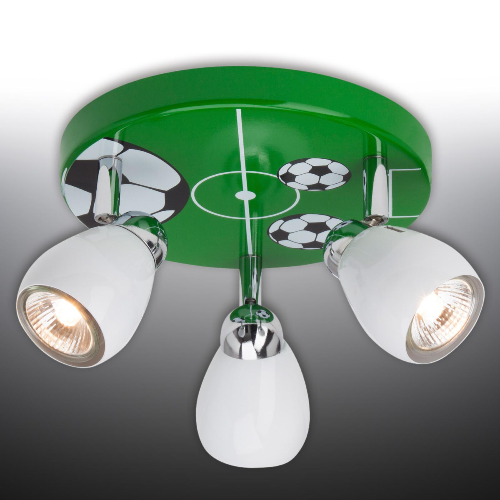 LED-Deckenleuchte Soccer, dreiflammig