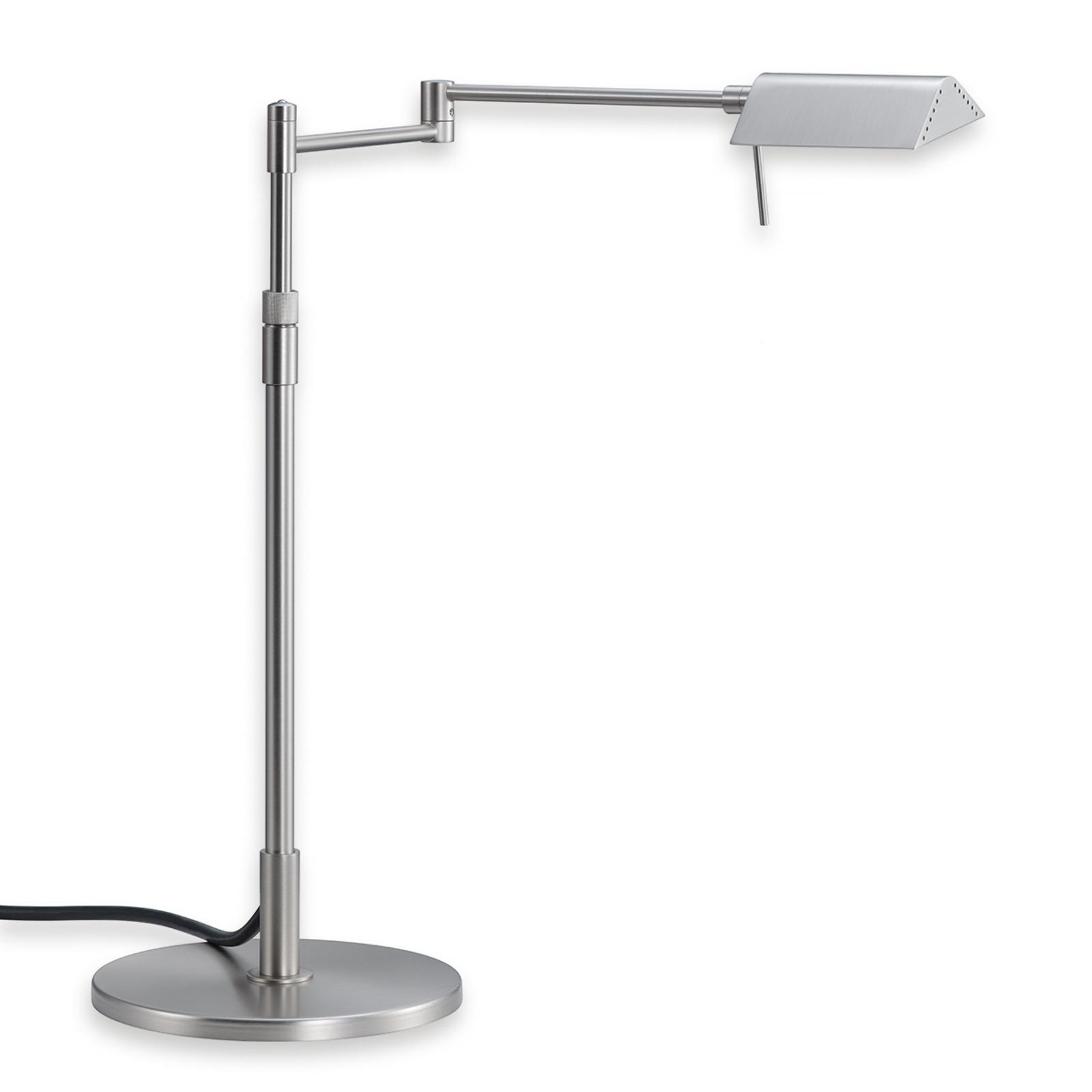 Dimmbare LED Tischleuchte Pur nickel matt