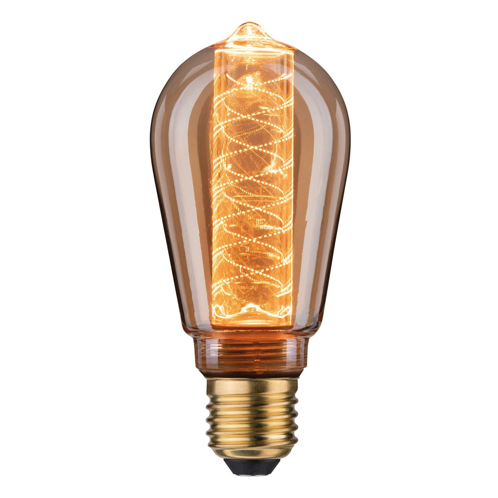 LED-Lampe E27 ST64 4W Inner Glow Spiralmuster