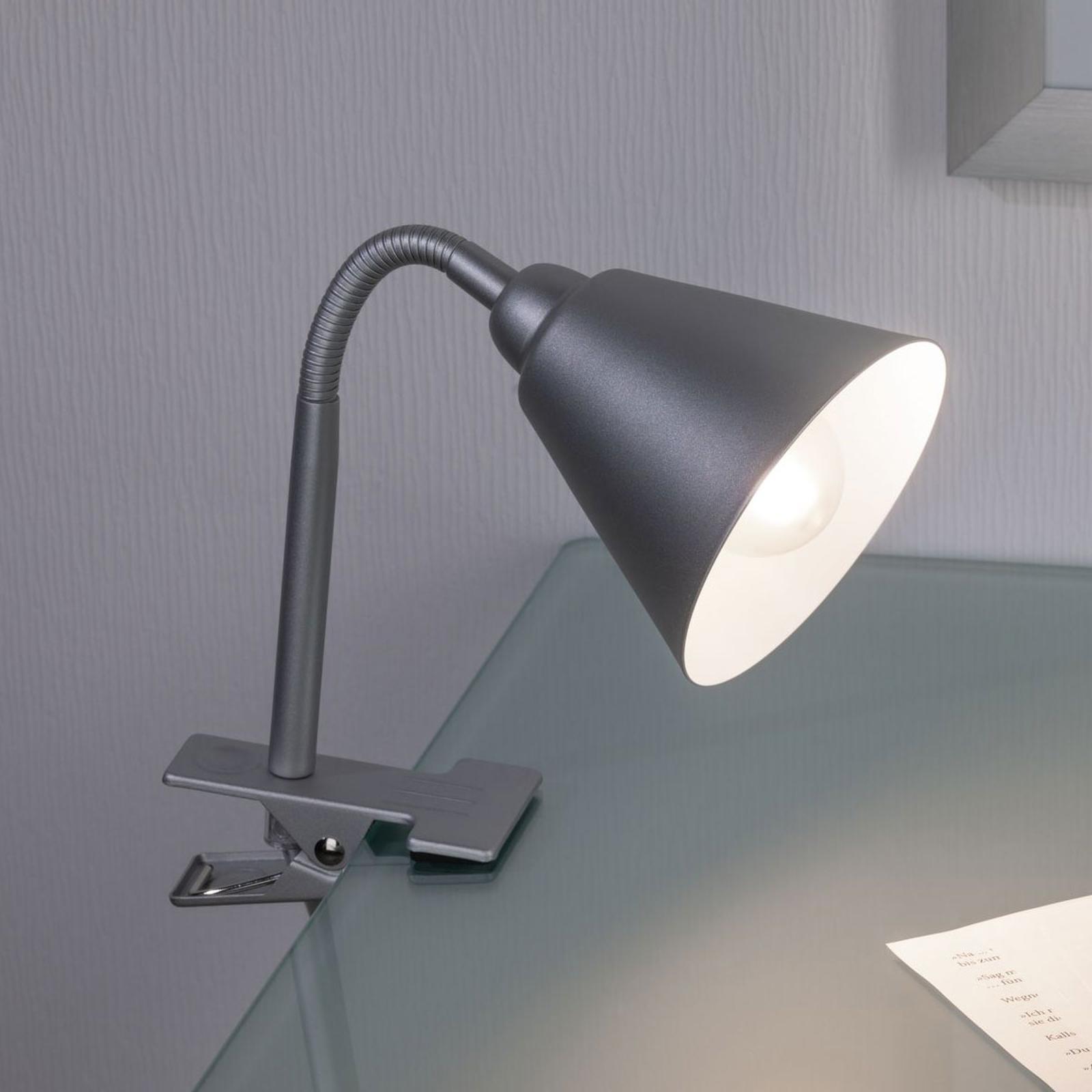 Paulmann Vitis klemlamp, grijs