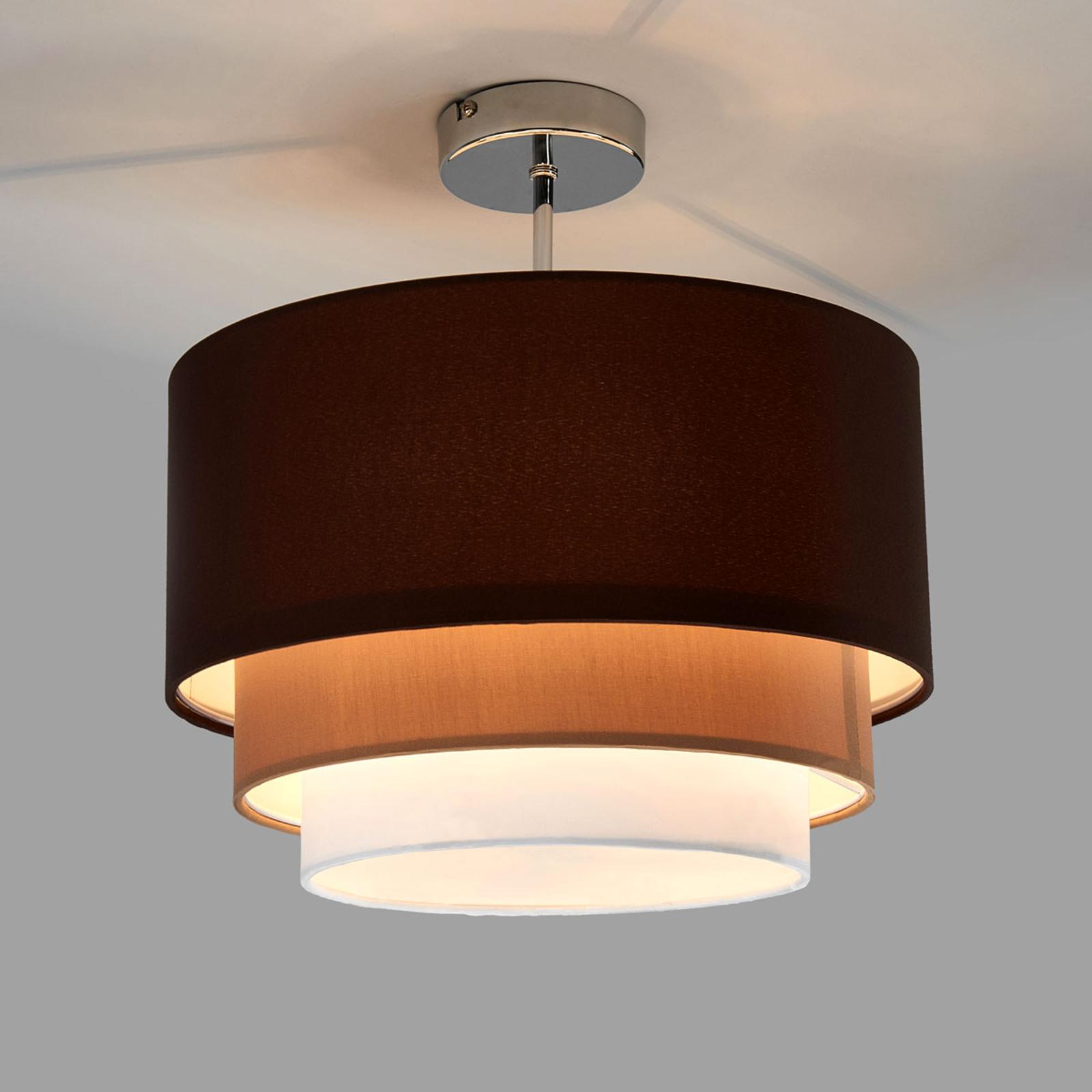Tkanina w trzech warstwach – lampa sufitowa Jayda